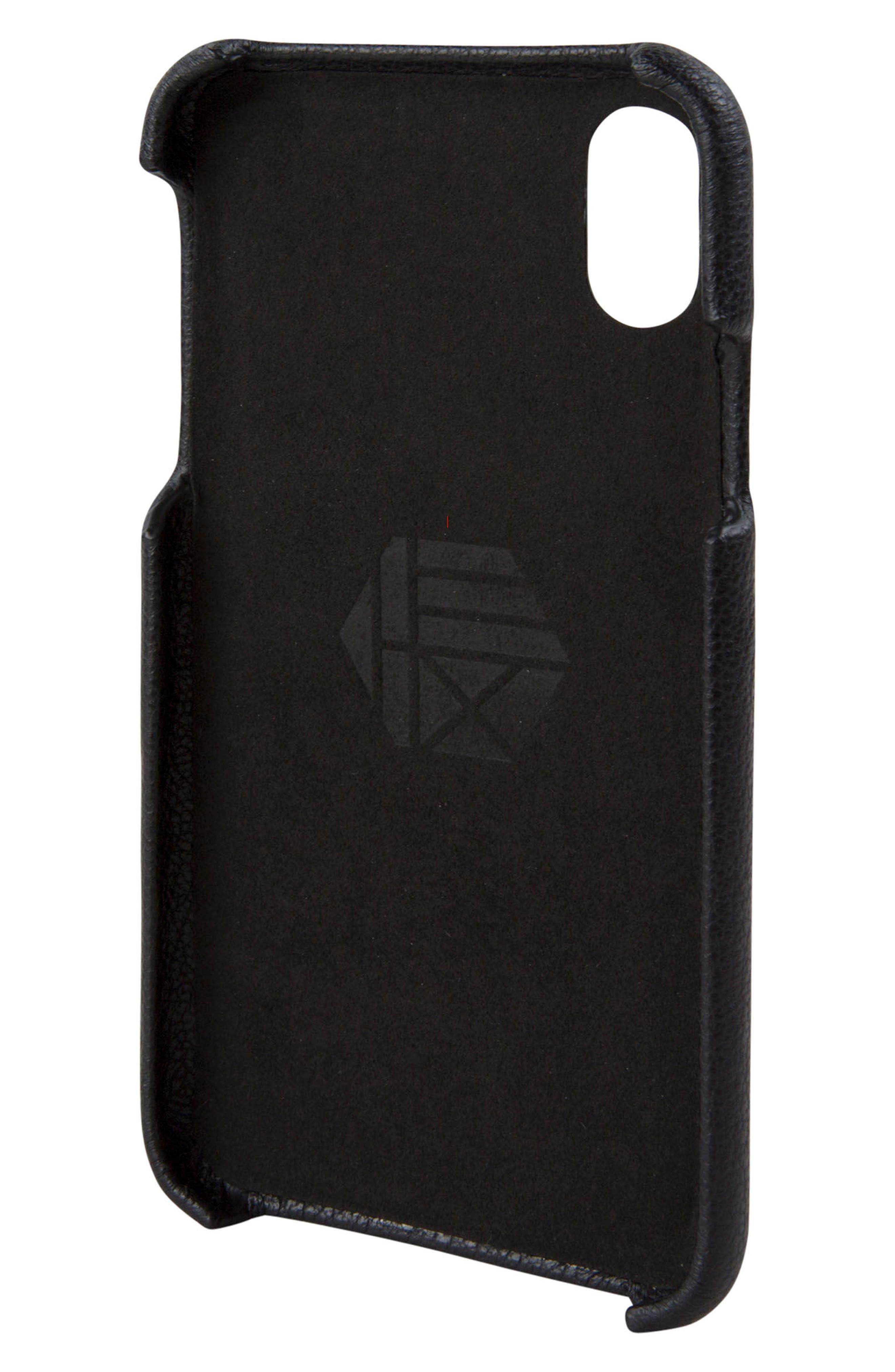 Solo iPhone X Wallet Case,                             Alternate thumbnail 4, color,                             001