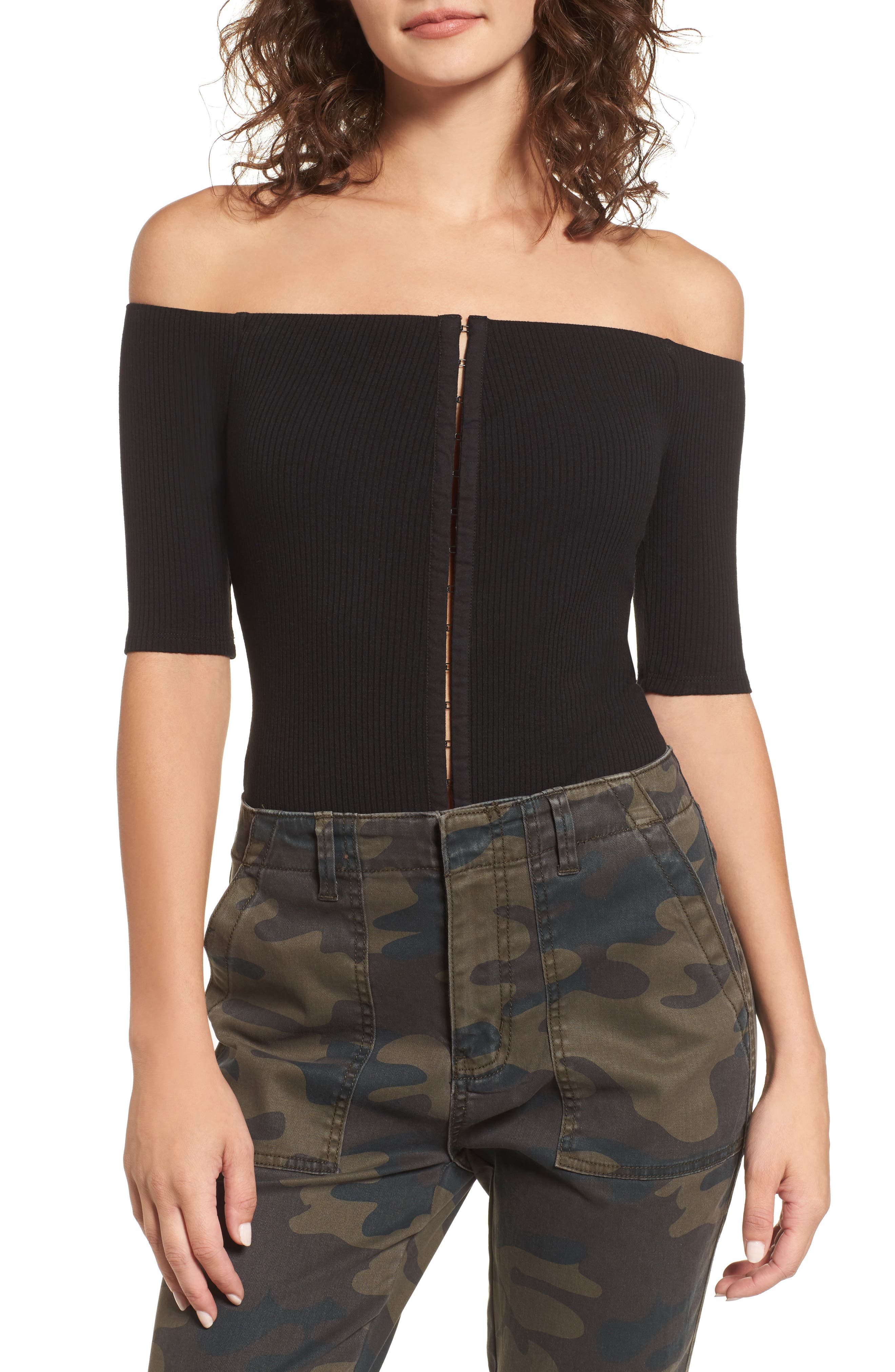 Margo Off the Shoulder Bodysuit,                         Main,                         color,