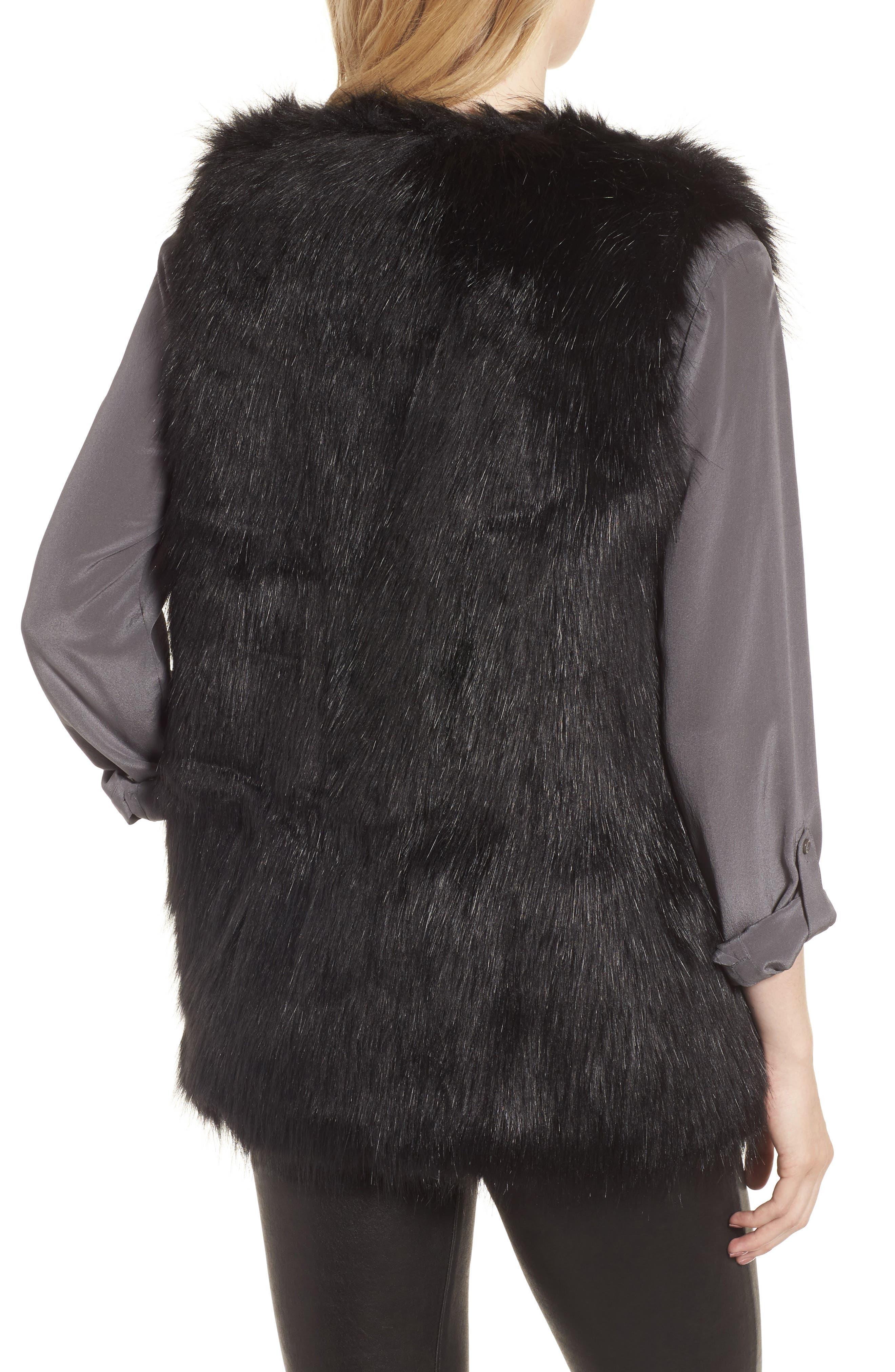 Faux Fur Vest,                             Alternate thumbnail 3, color,
