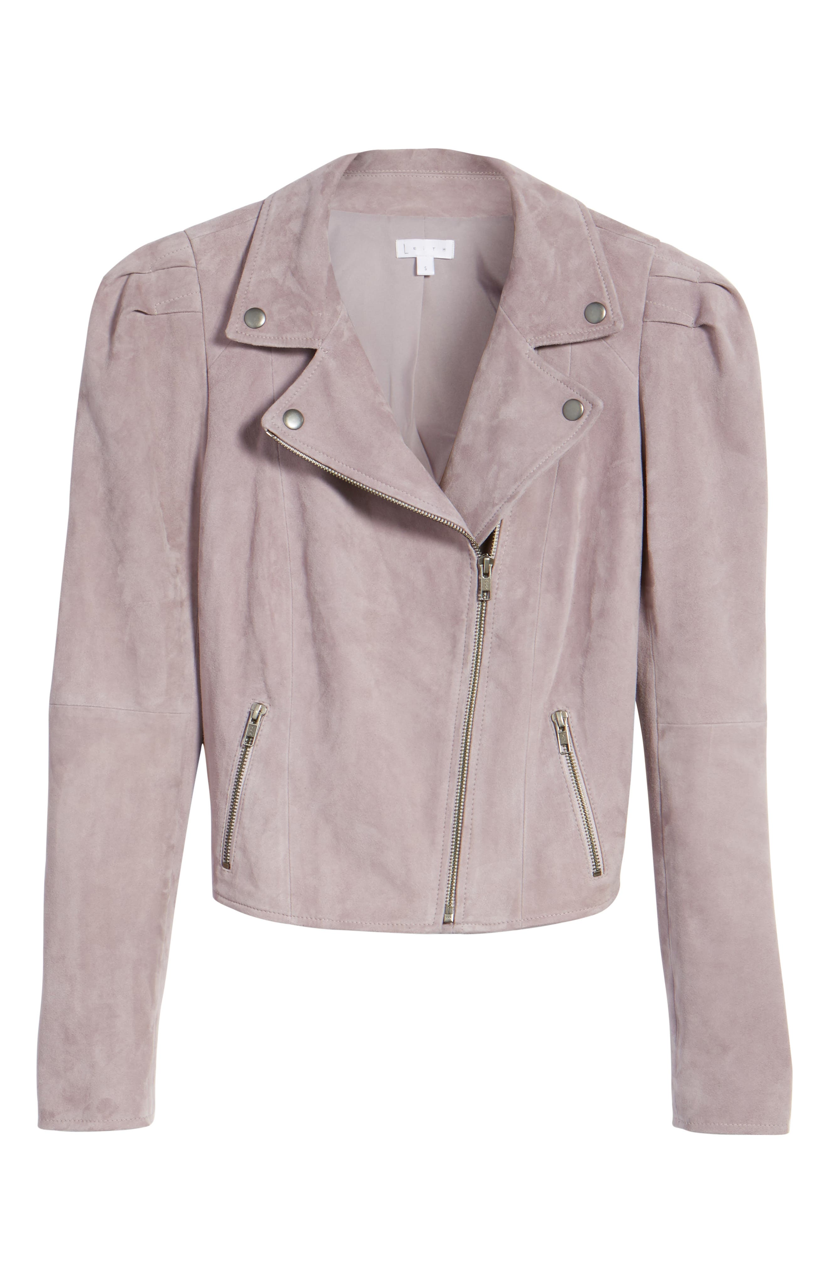 Suede Moto Jacket,                             Alternate thumbnail 6, color,                             510