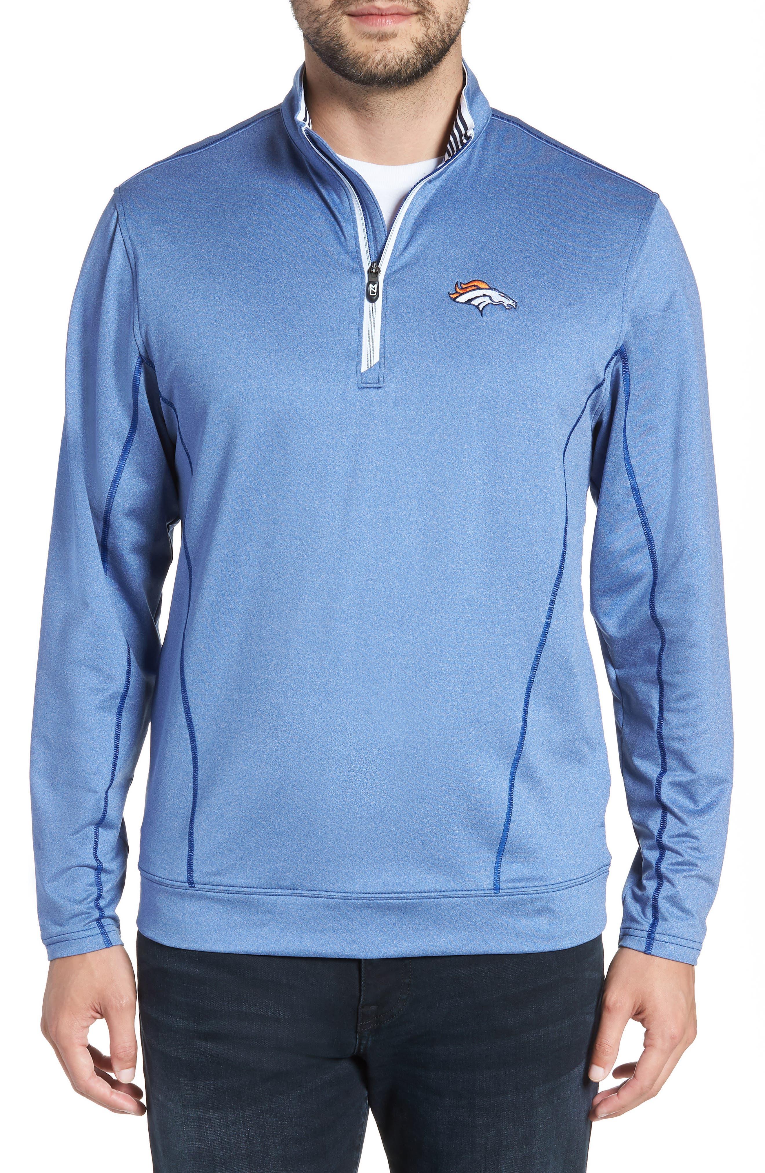 Endurance Denver Broncos Regular Fit Pullover,                             Main thumbnail 1, color,                             425