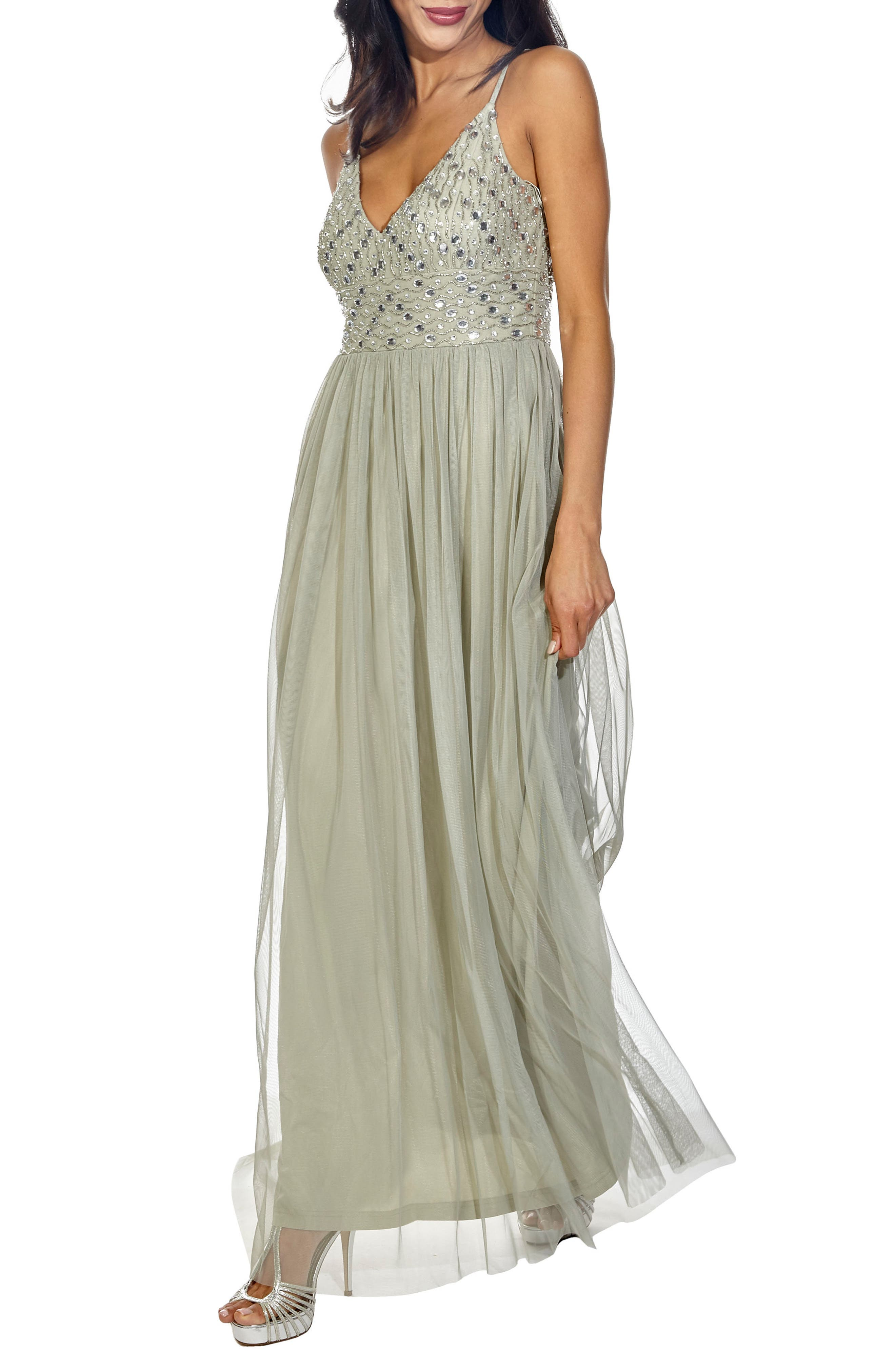 Maeve Beaded Maxi Dress,                             Alternate thumbnail 3, color,                             330