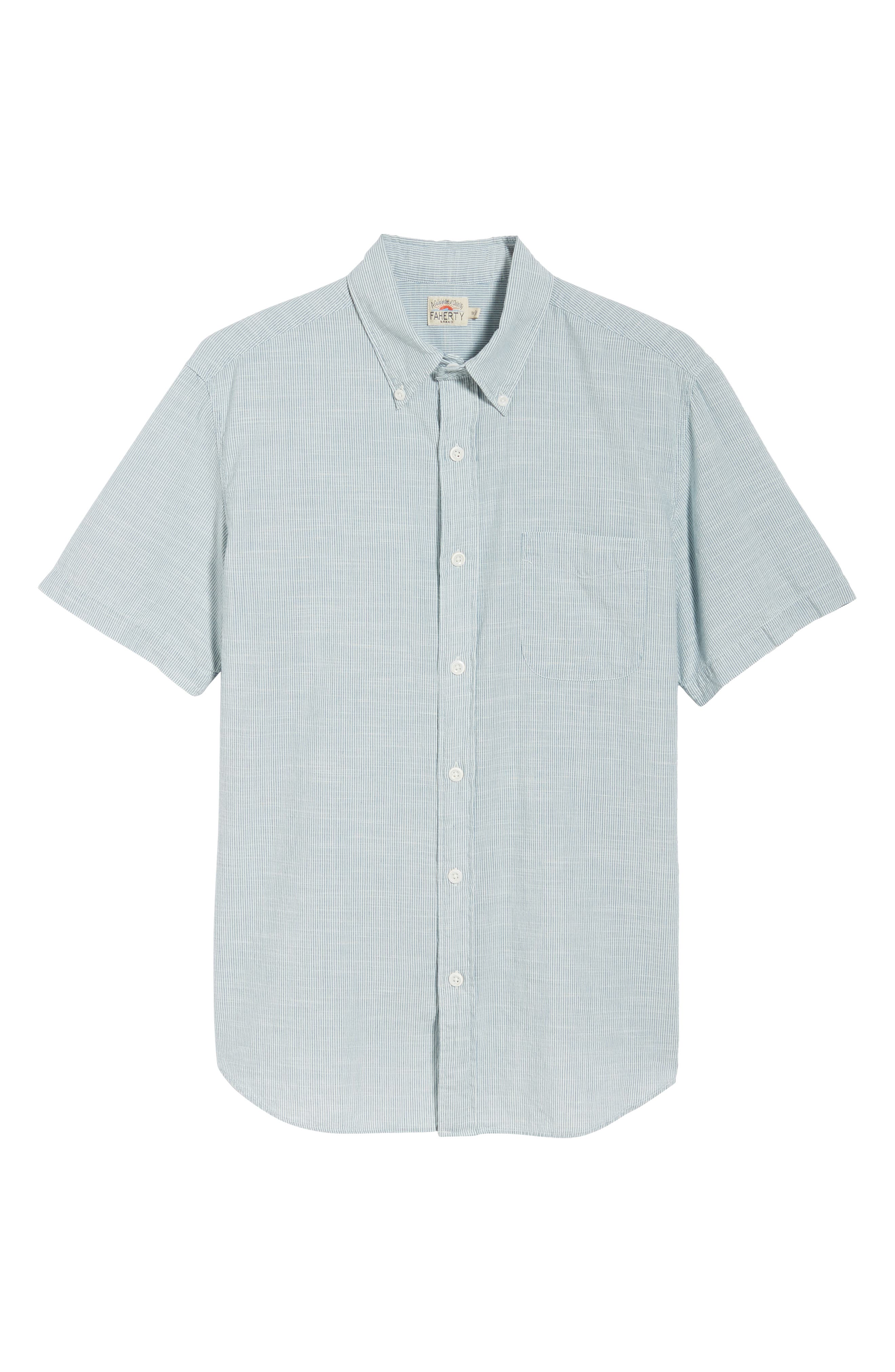 Pacific Pinstripe Sport Shirt,                             Alternate thumbnail 6, color,                             100