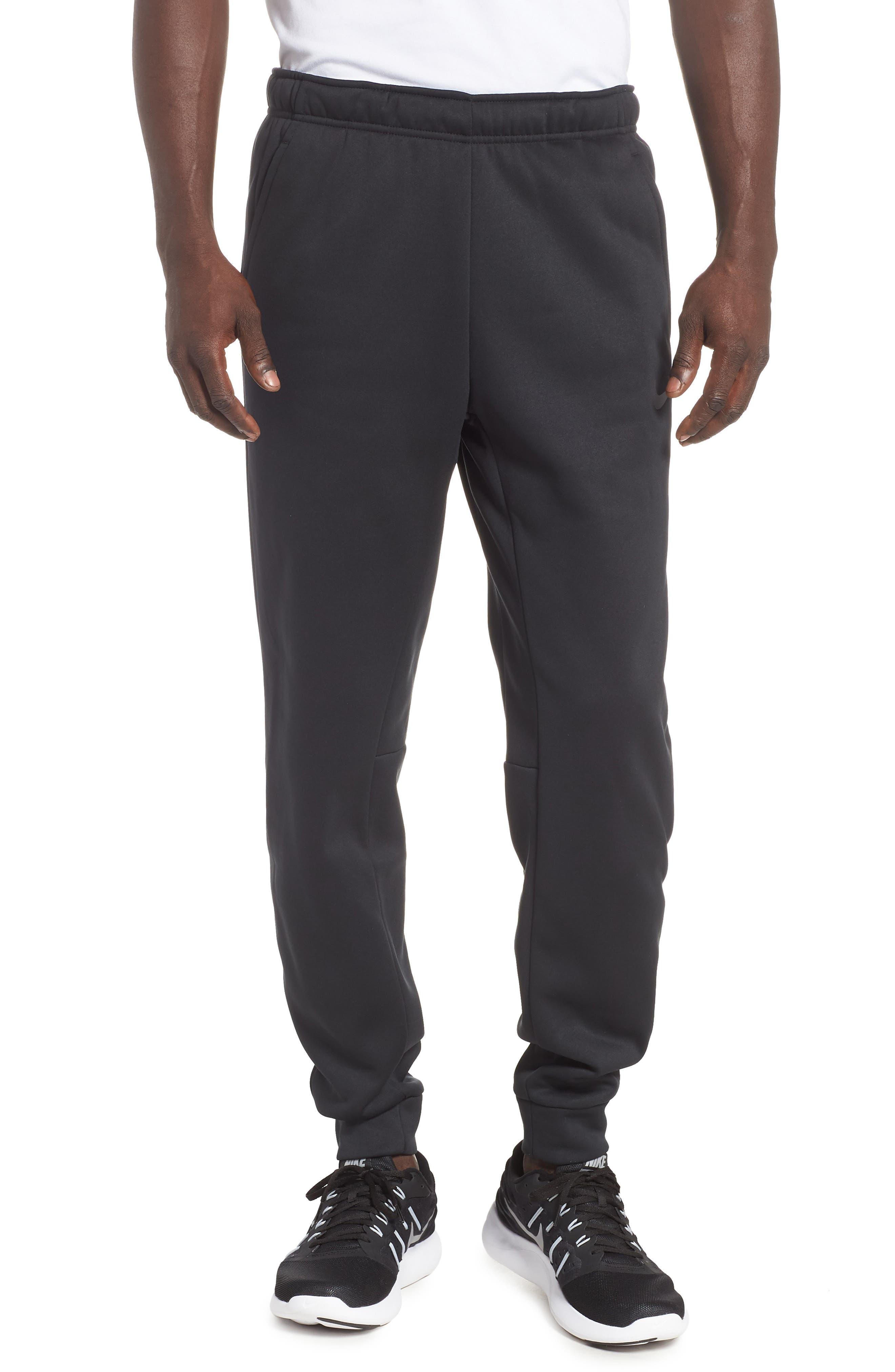Dri-FIT Therma Training Pants,                             Main thumbnail 1, color,                             BLACK/ METALLIC HEMATITE