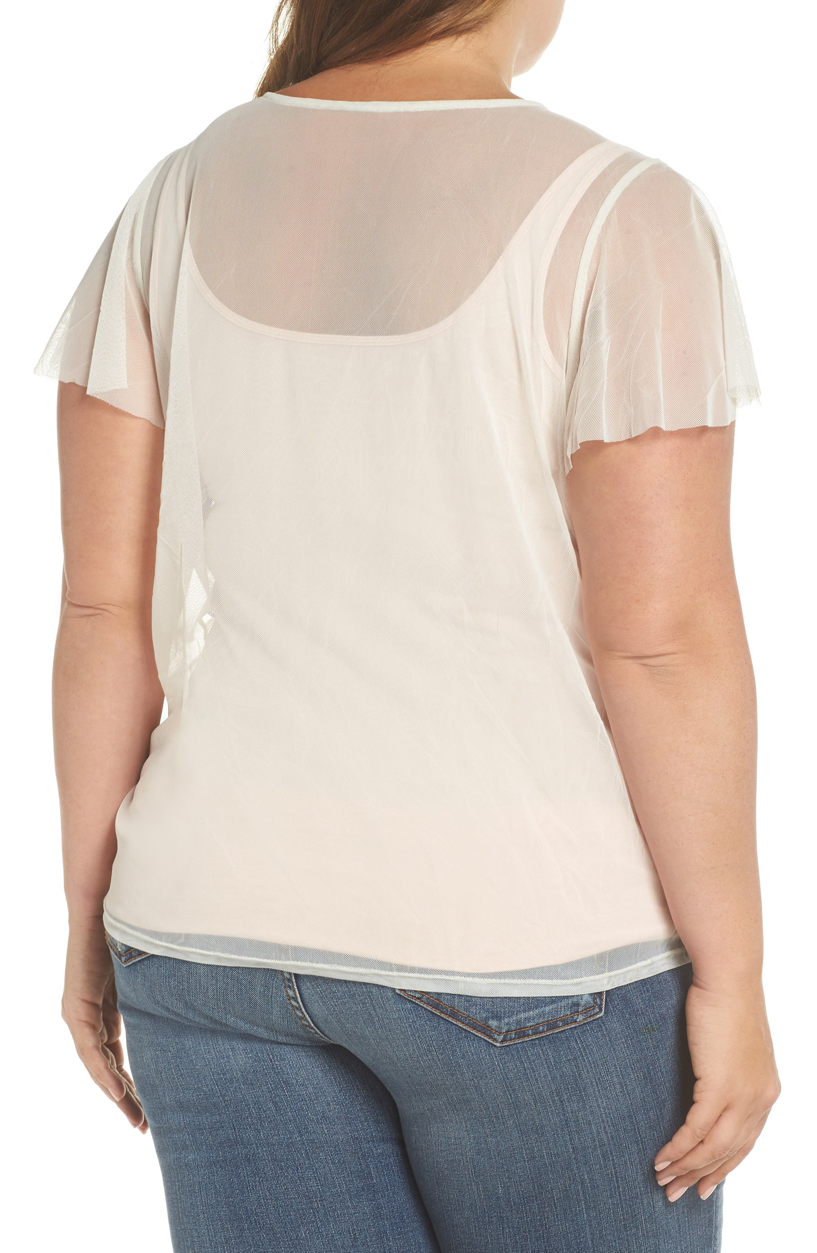 Sequin & Embroidered Top,                             Alternate thumbnail 2, color,                             662