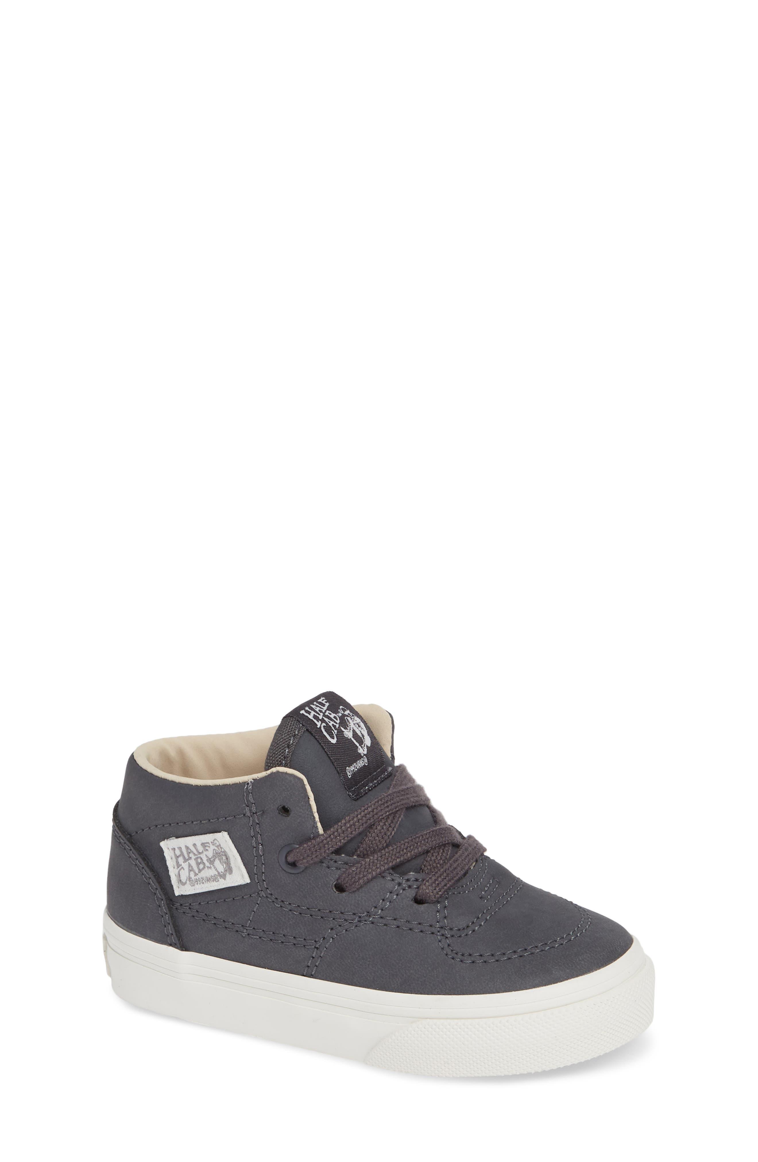 Half Cab Sneaker,                         Main,                         color, VANSBUCK ASPHALT/ BLANC