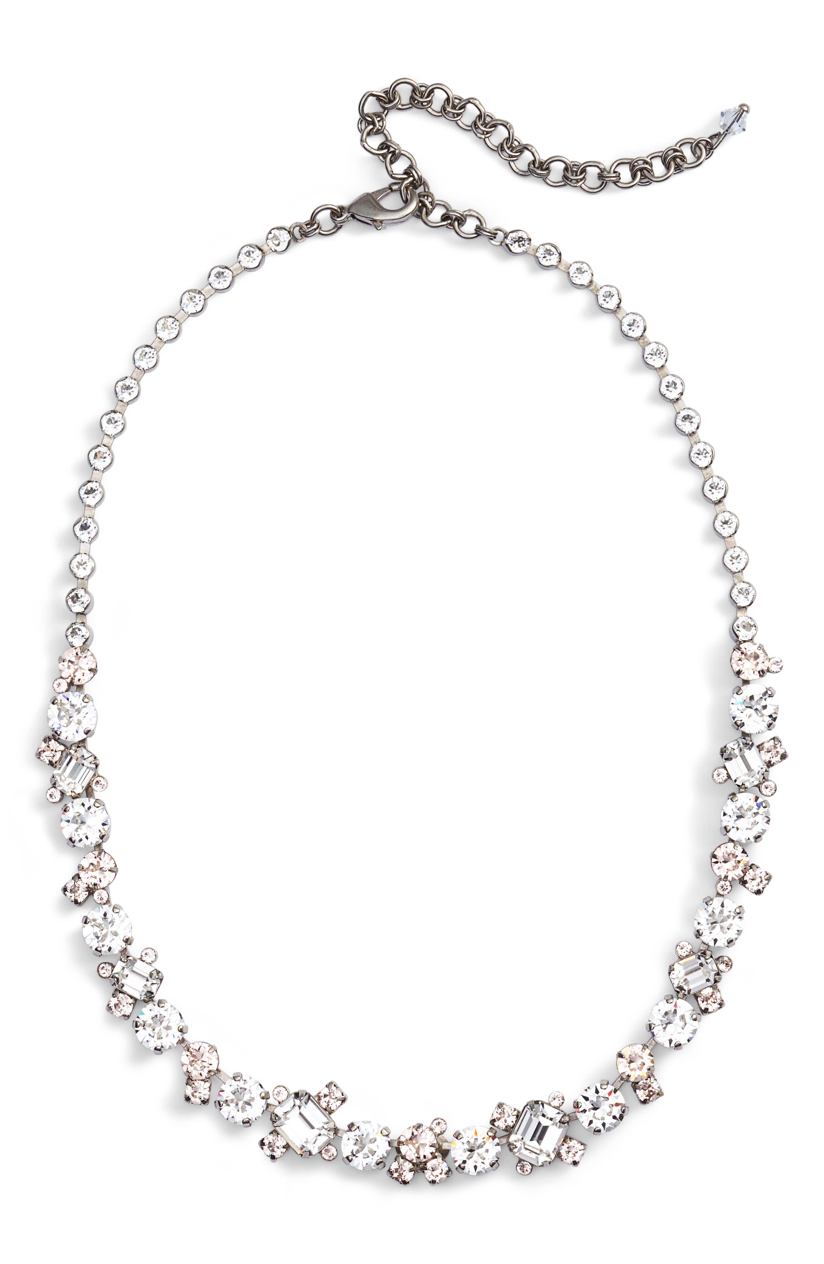 SORRELLI,                             Crystal Collar Necklace,                             Main thumbnail 1, color,                             116