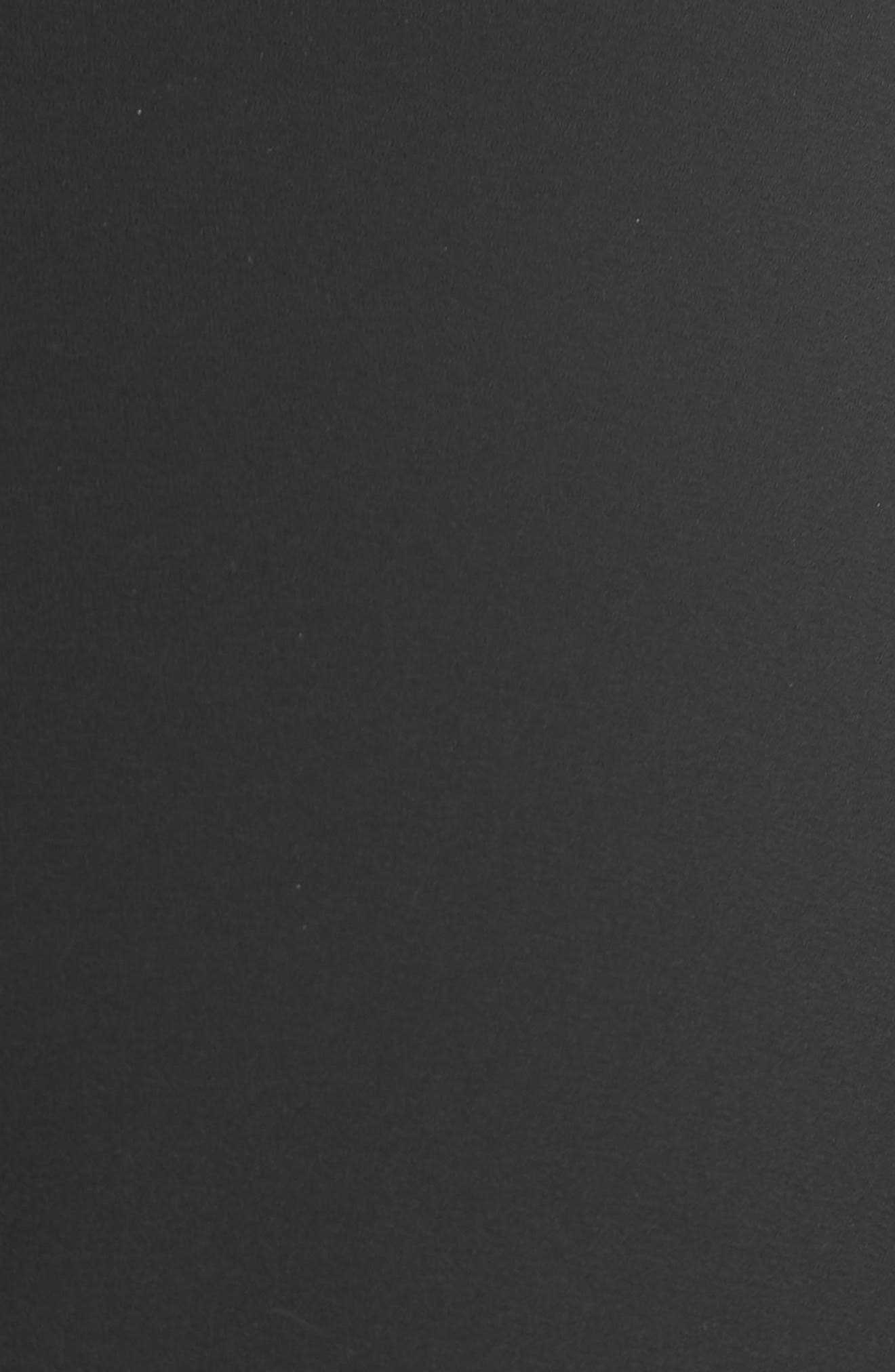 Nicolina Layered Tulip Miniskirt,                             Alternate thumbnail 5, color,                             BLACK