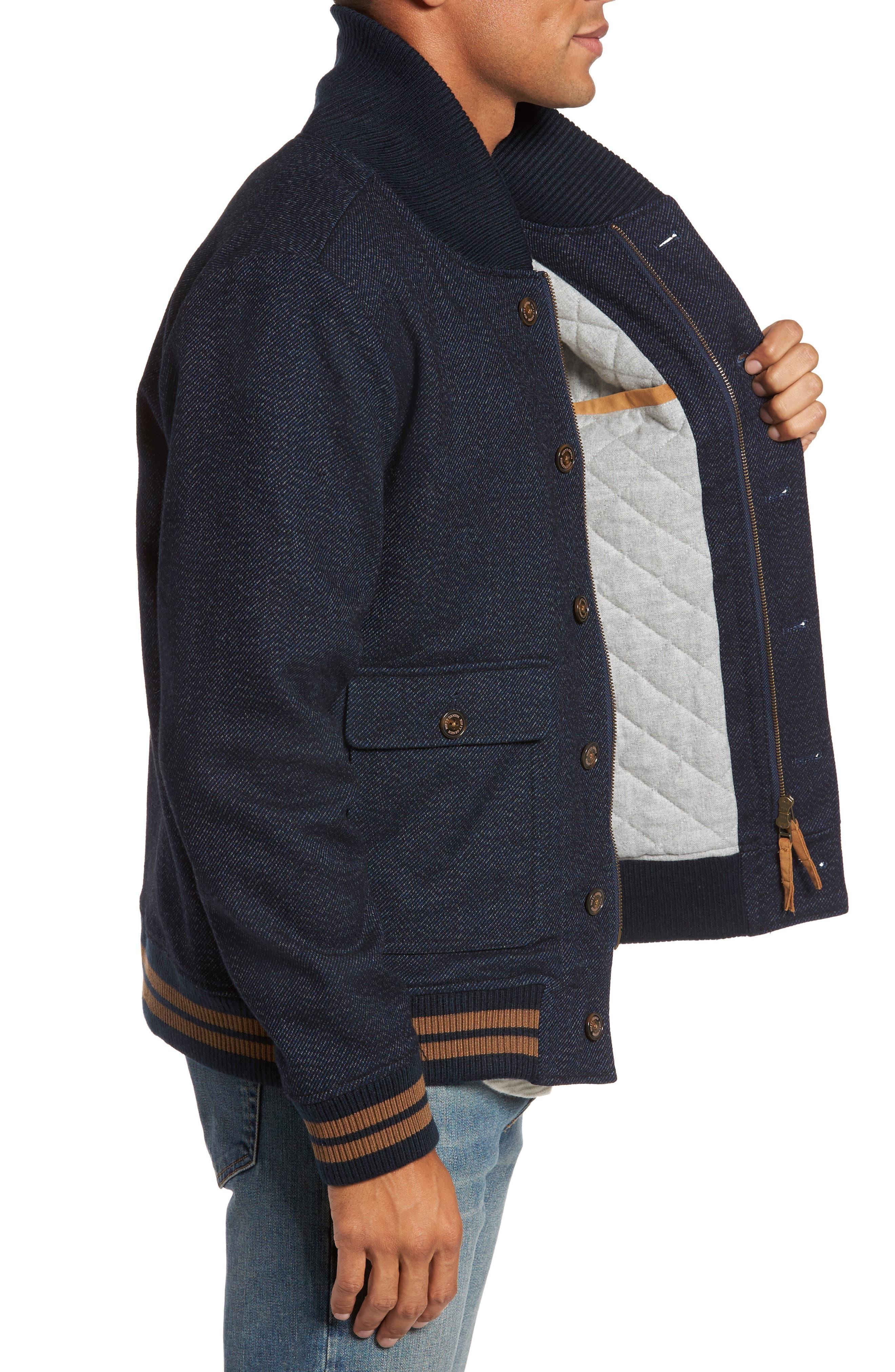 Roll Collar Varsity Jacket,                             Alternate thumbnail 3, color,                             401