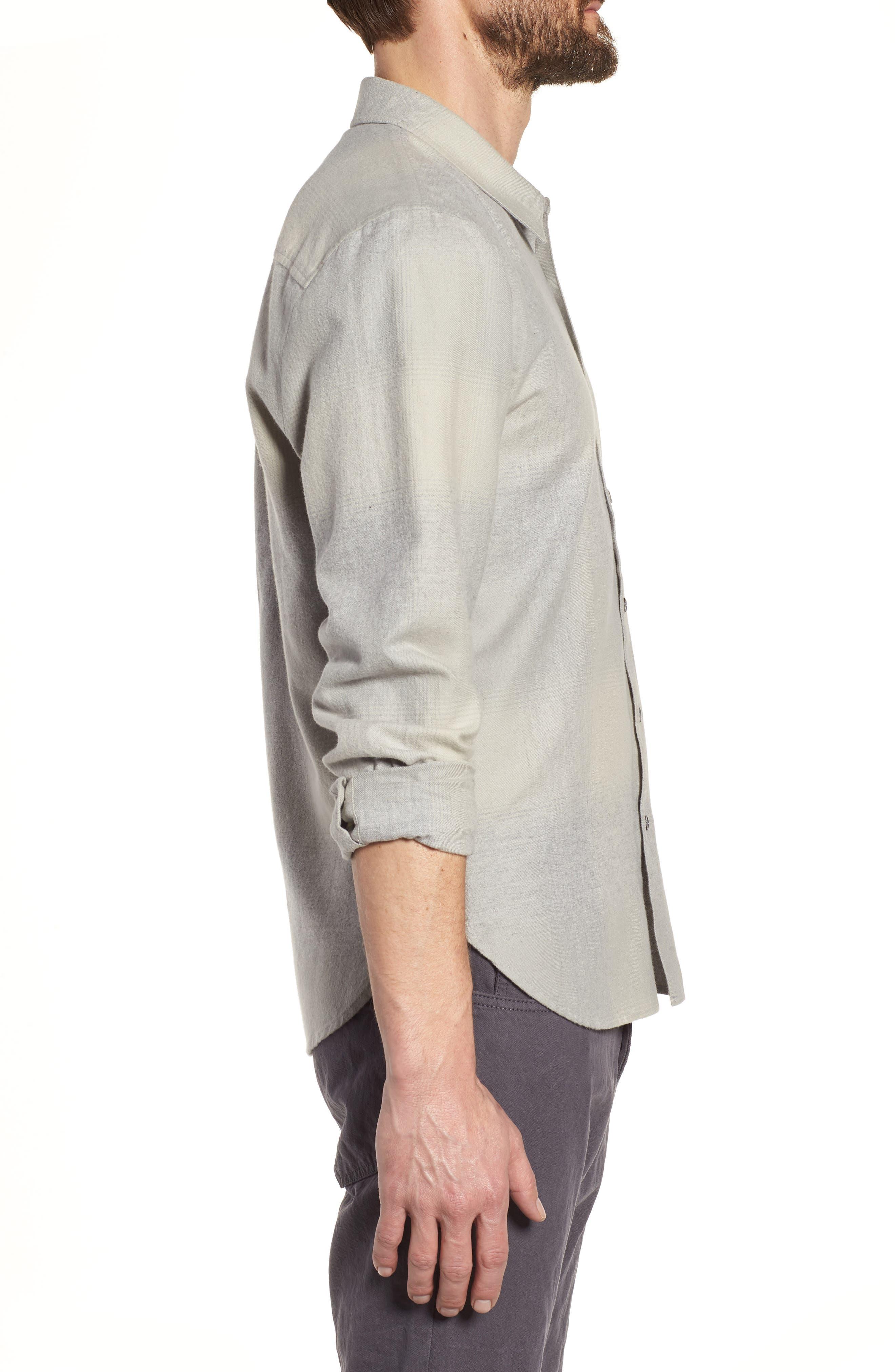 JAMES PERSE,                             Ghost Regular Fit Plaid Sport Shirt,                             Alternate thumbnail 3, color,                             086