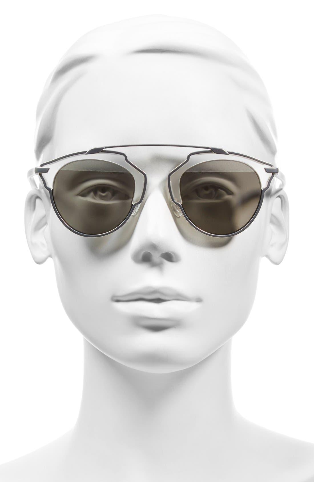 So Real 48mm Brow Bar Sunglasses,                             Alternate thumbnail 40, color,