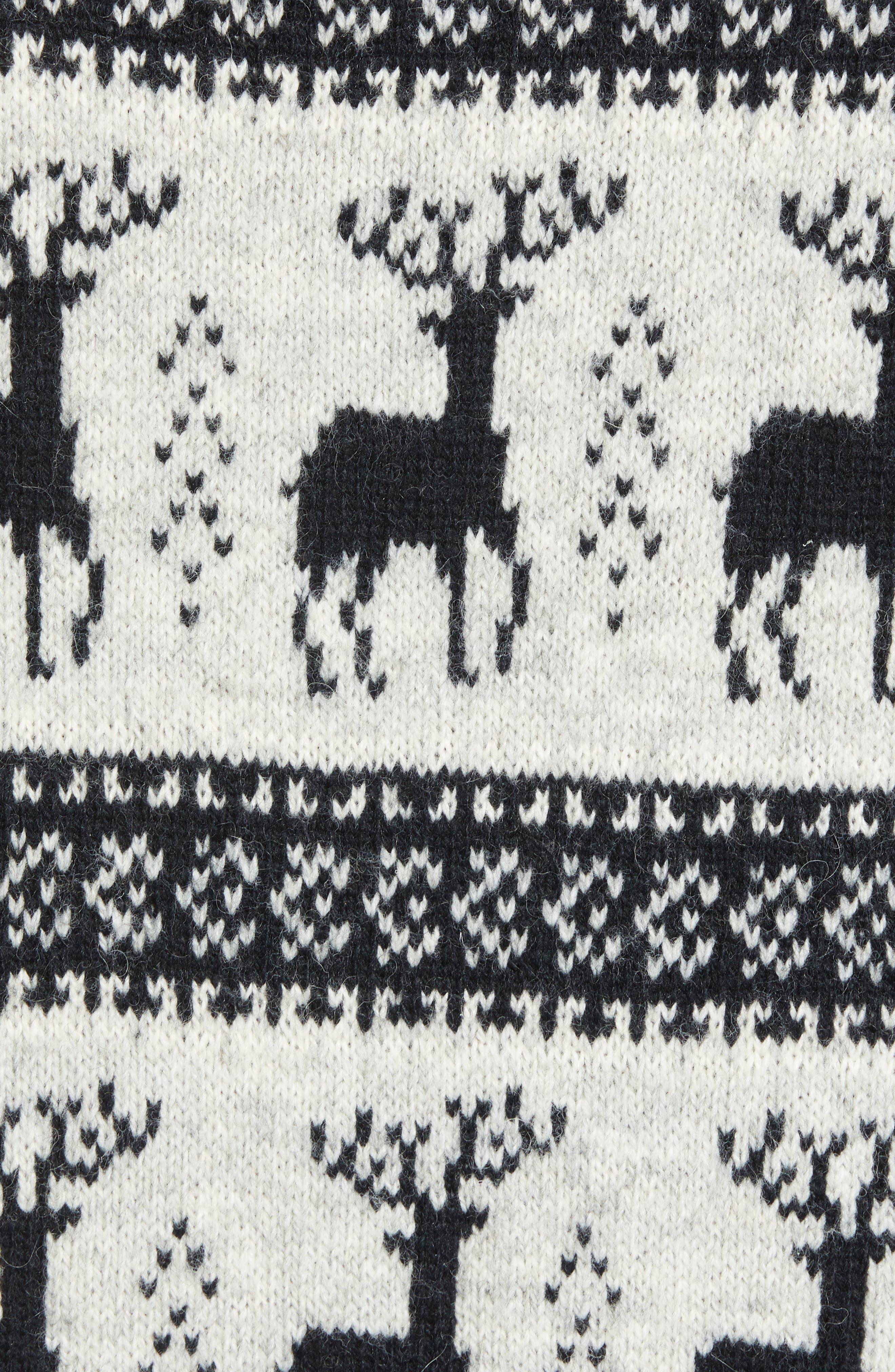 Cedar Slim Fit Crewneck Sweater,                             Alternate thumbnail 5, color,                             LIGHT HEATHER GREY