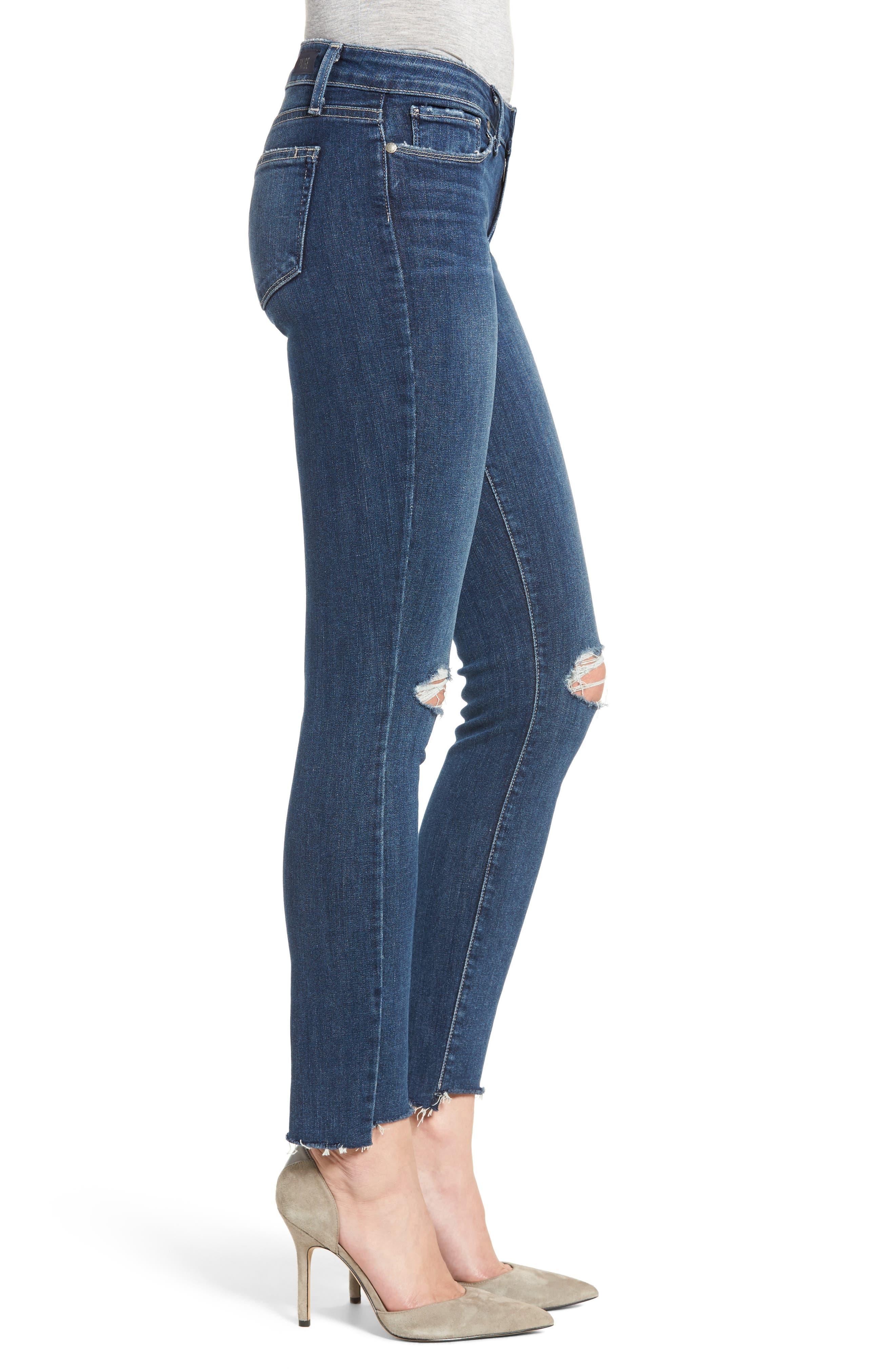 Verdugo Step Hem Ankle Skinny Jeans (Dede Destructed),                             Alternate thumbnail 3, color,                             400