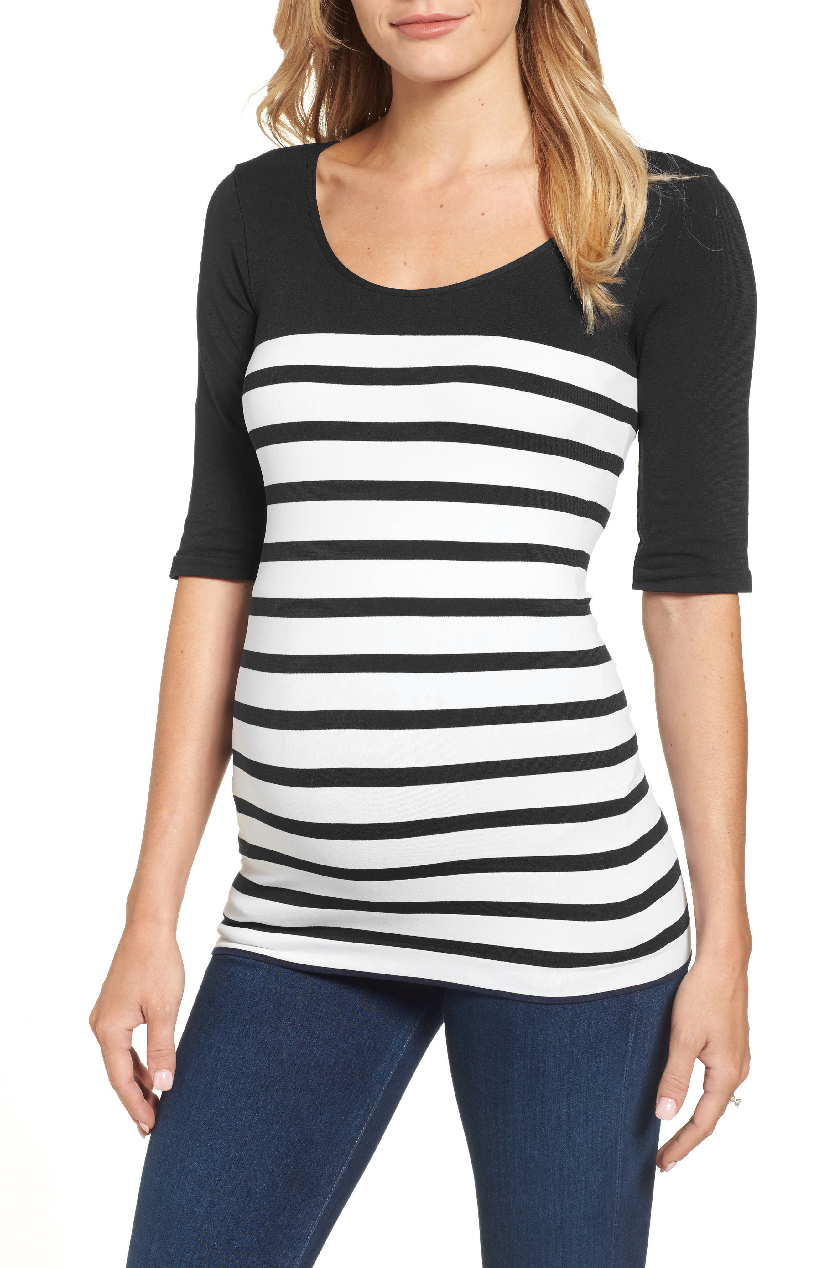 'St. Barts' Ballet Sleeve Maternity Top,                         Main,                         color, 001