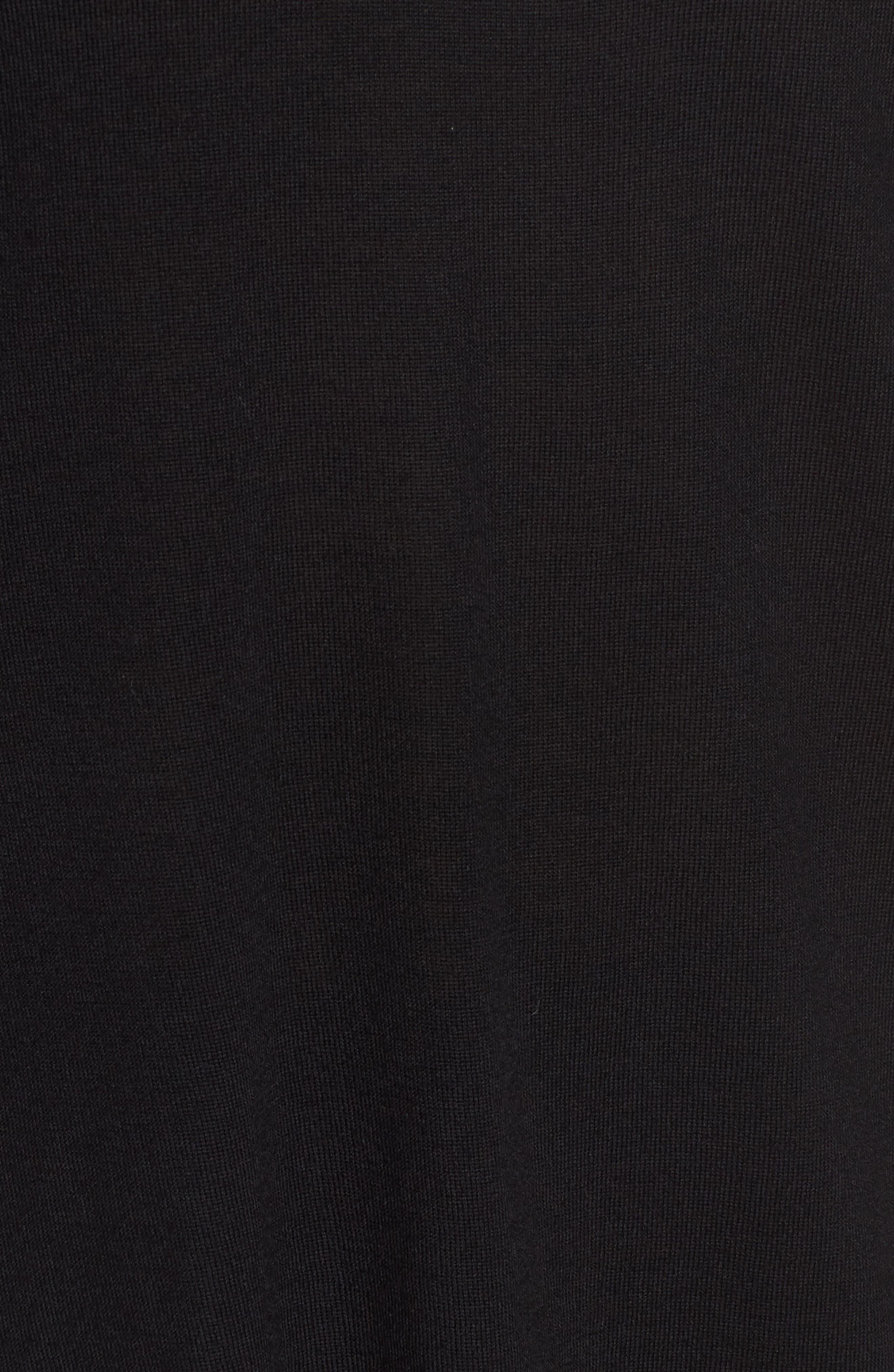 Merino Wool Tunic Sweater,                             Alternate thumbnail 5, color,                             001