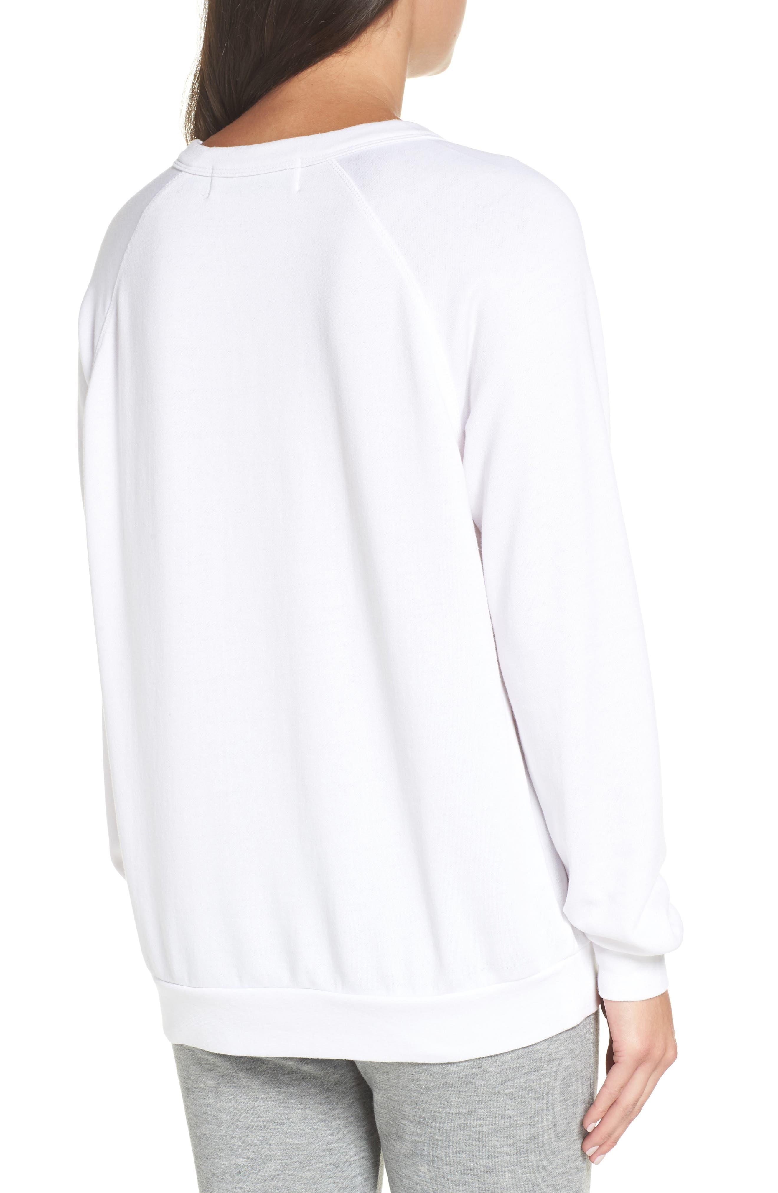 Priority Female Sweatshirt,                             Alternate thumbnail 2, color,                             WHITE