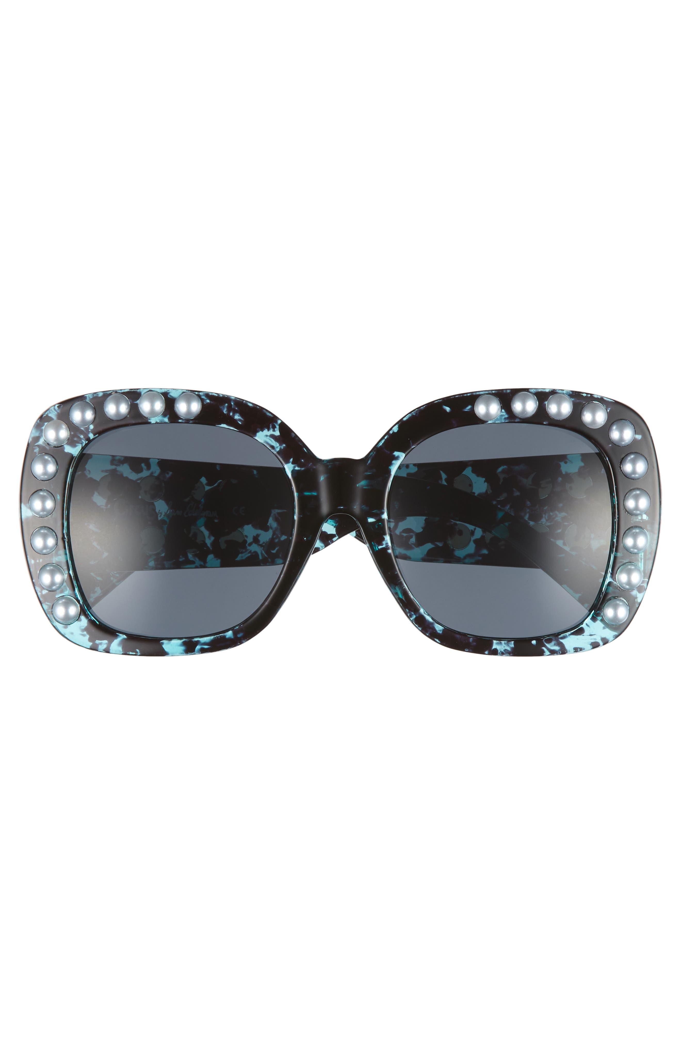 53mm Imitation Pearl Sunglasses,                             Alternate thumbnail 9, color,