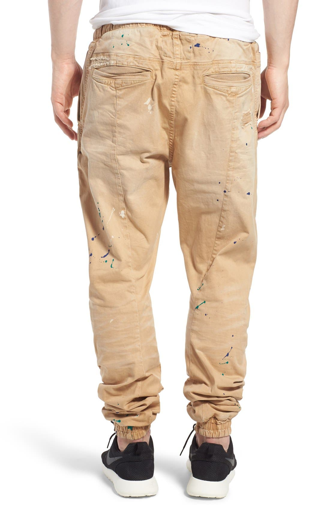 'Damiana' Splatter Paint Stretch Woven Jogger Pants,                             Alternate thumbnail 2, color,                             250