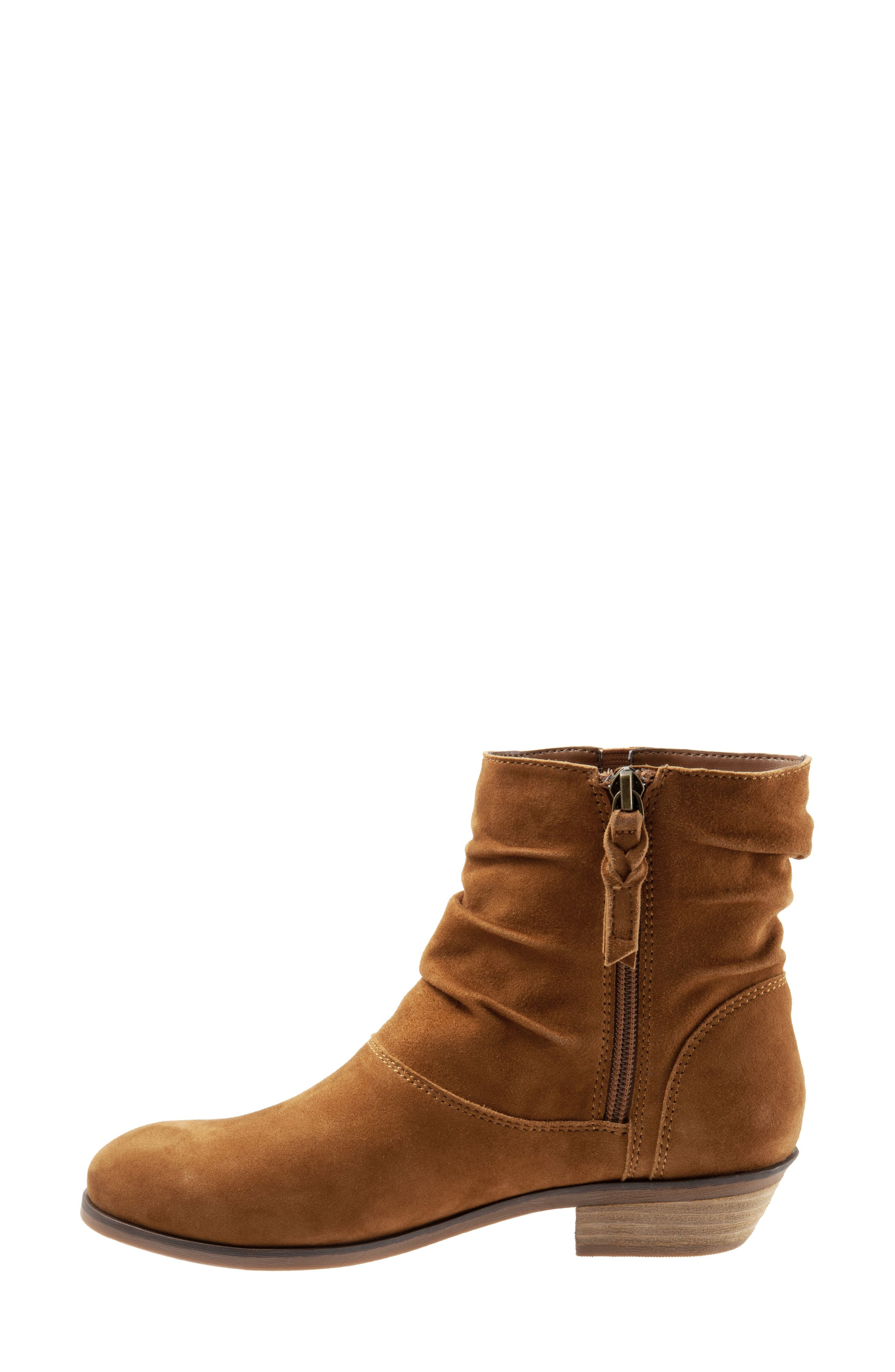 SOFTWALK<SUP>®</SUP>,                             Rochele Bootie,                             Alternate thumbnail 9, color,                             BRANDY SUEDE