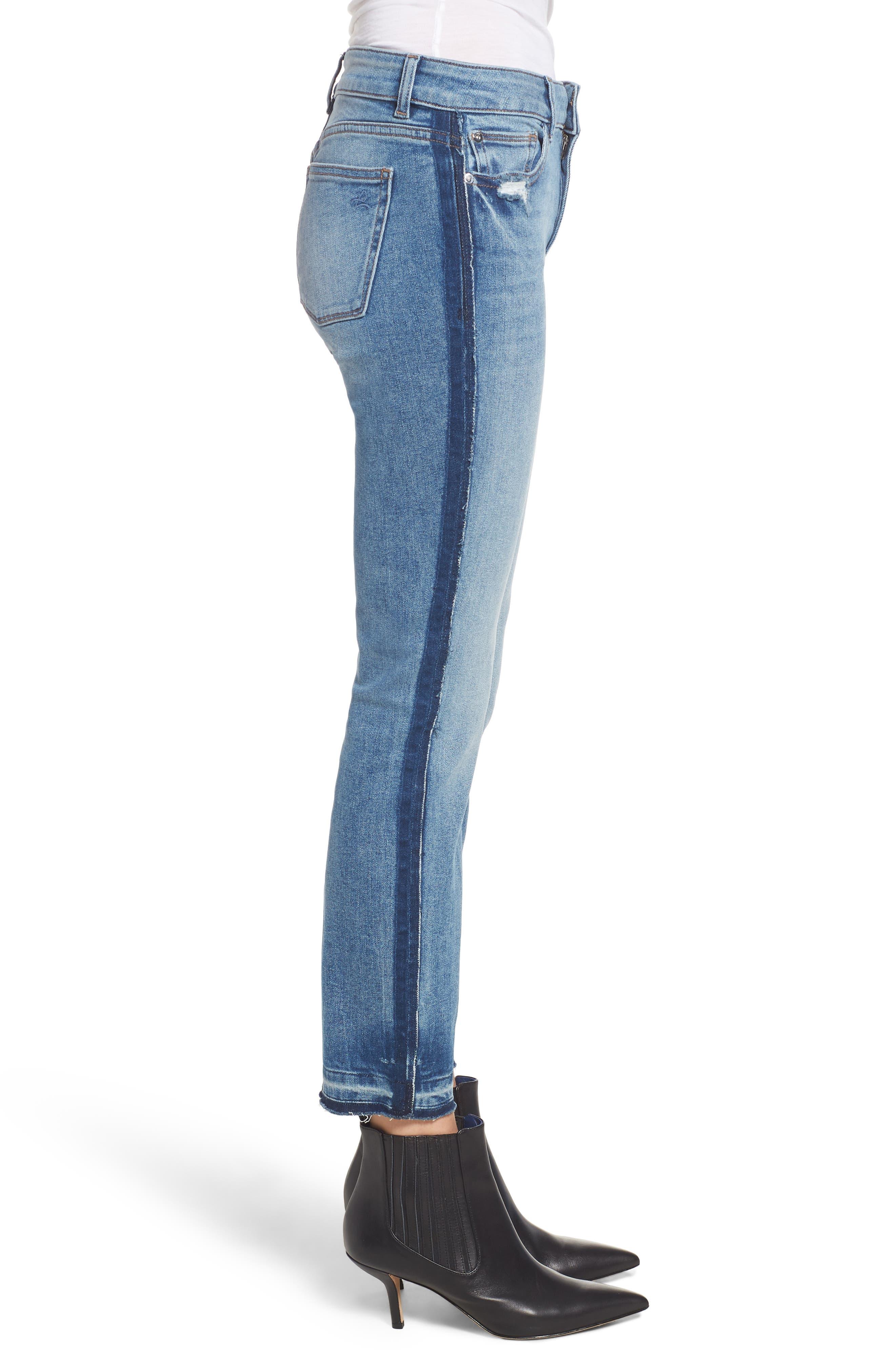 Mara Instasculpt Ankle Straight Leg Jeans,                             Alternate thumbnail 3, color,                             EVERETT