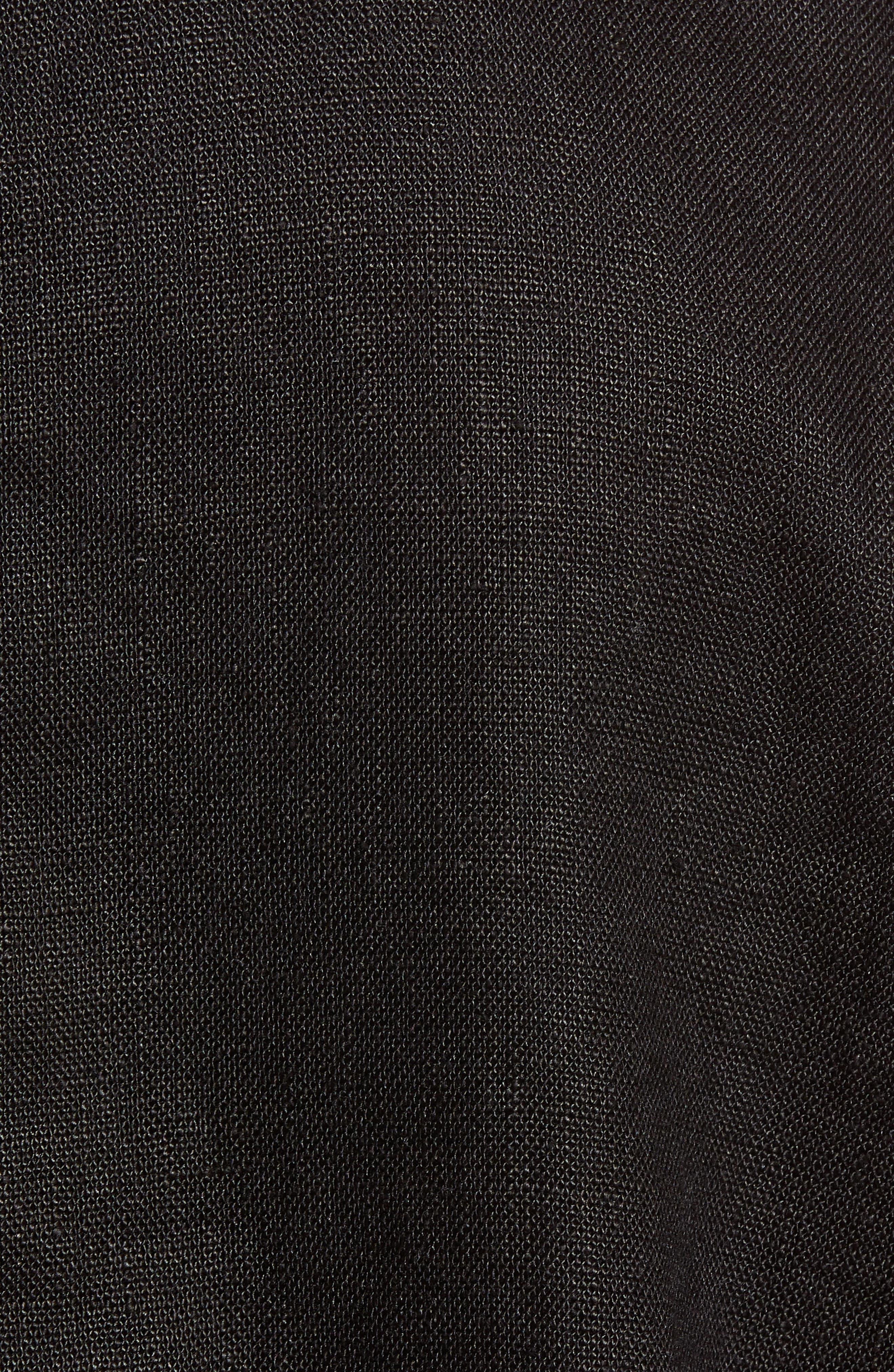 EILEEN FISHER,                             Drawstring Organic Linen Jacket,                             Alternate thumbnail 7, color,                             001