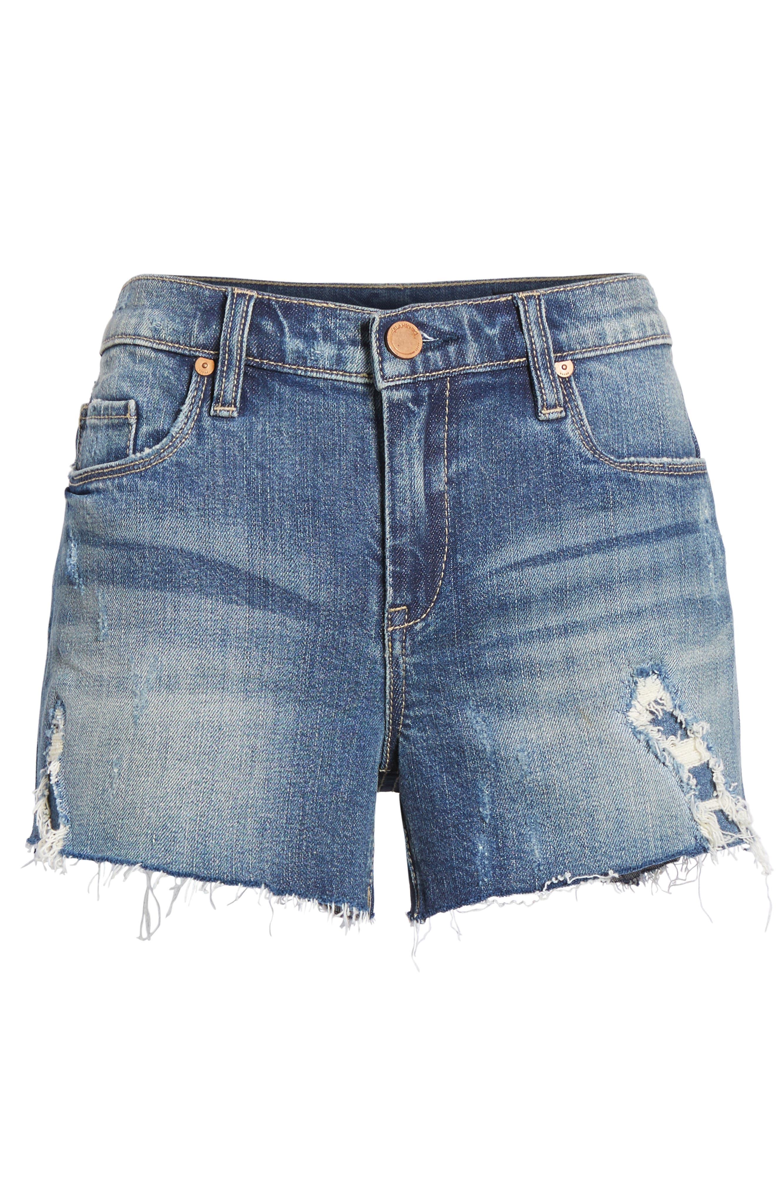 The Astor Ripped Cutoff Denim Shorts,                             Alternate thumbnail 6, color,                             400