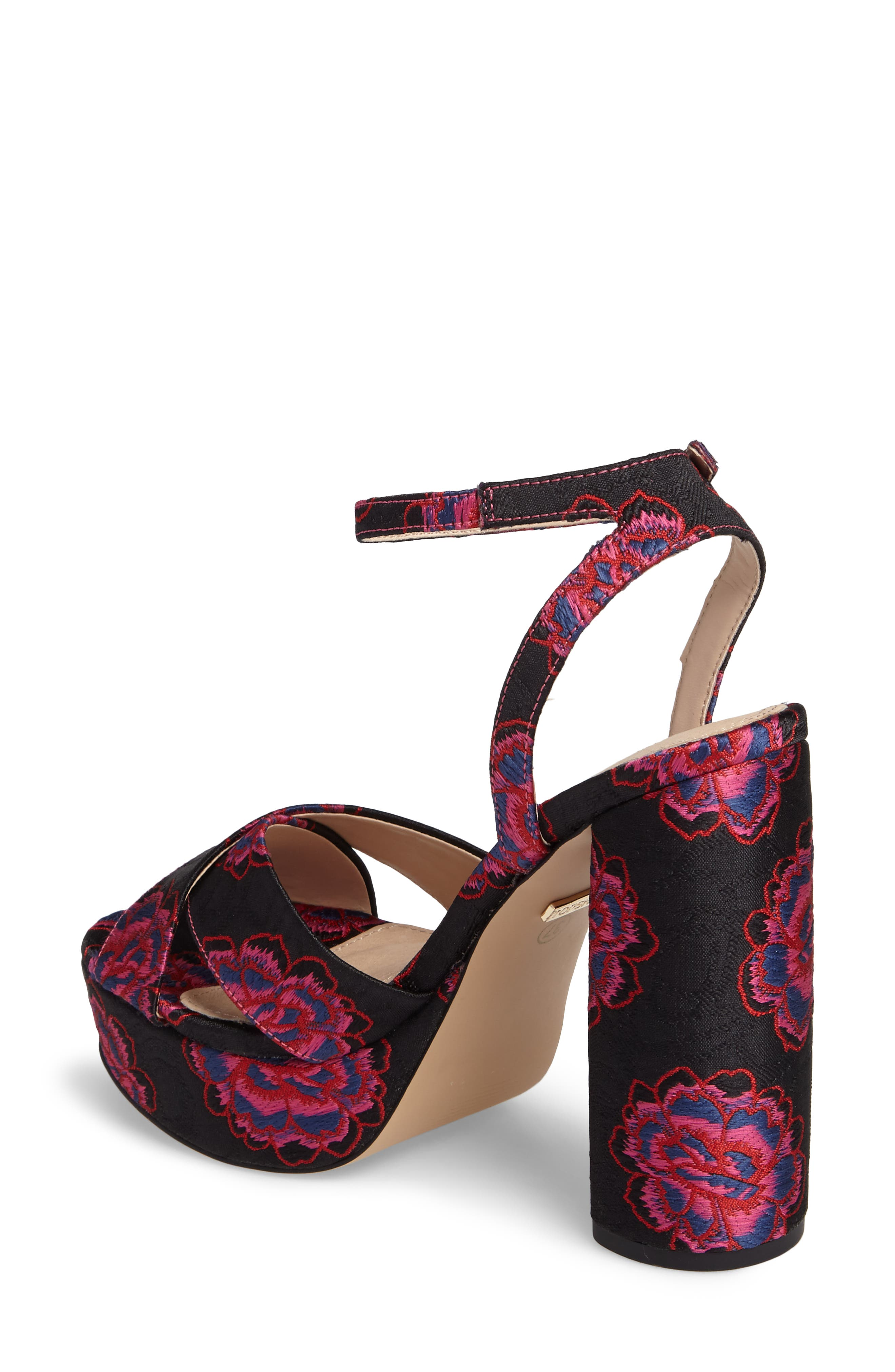 Lollie Embroidered Sandals,                             Alternate thumbnail 2, color,                             001