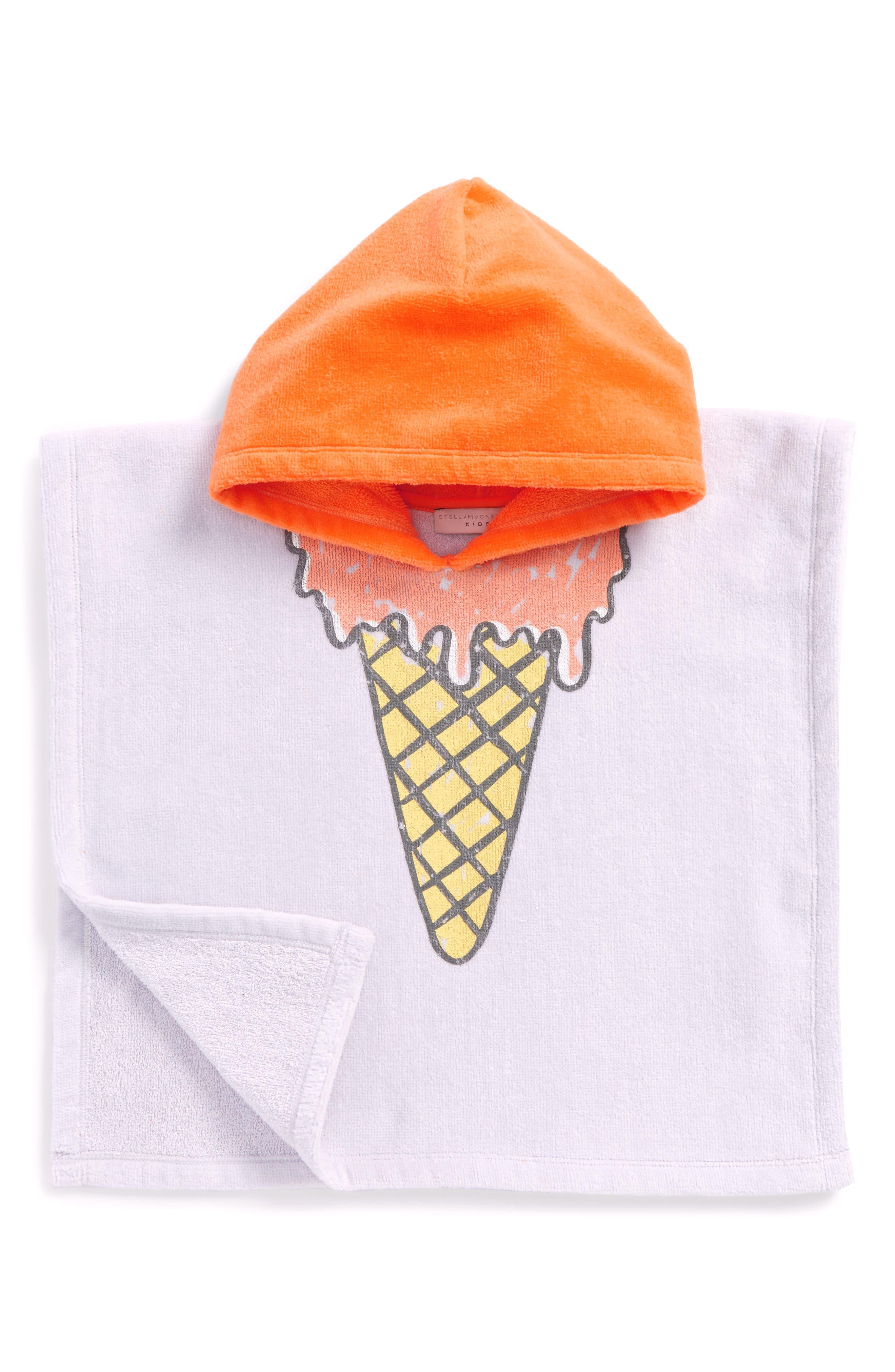 Kids Boho Ice Cream Hooded Beach Towel,                             Main thumbnail 1, color,
