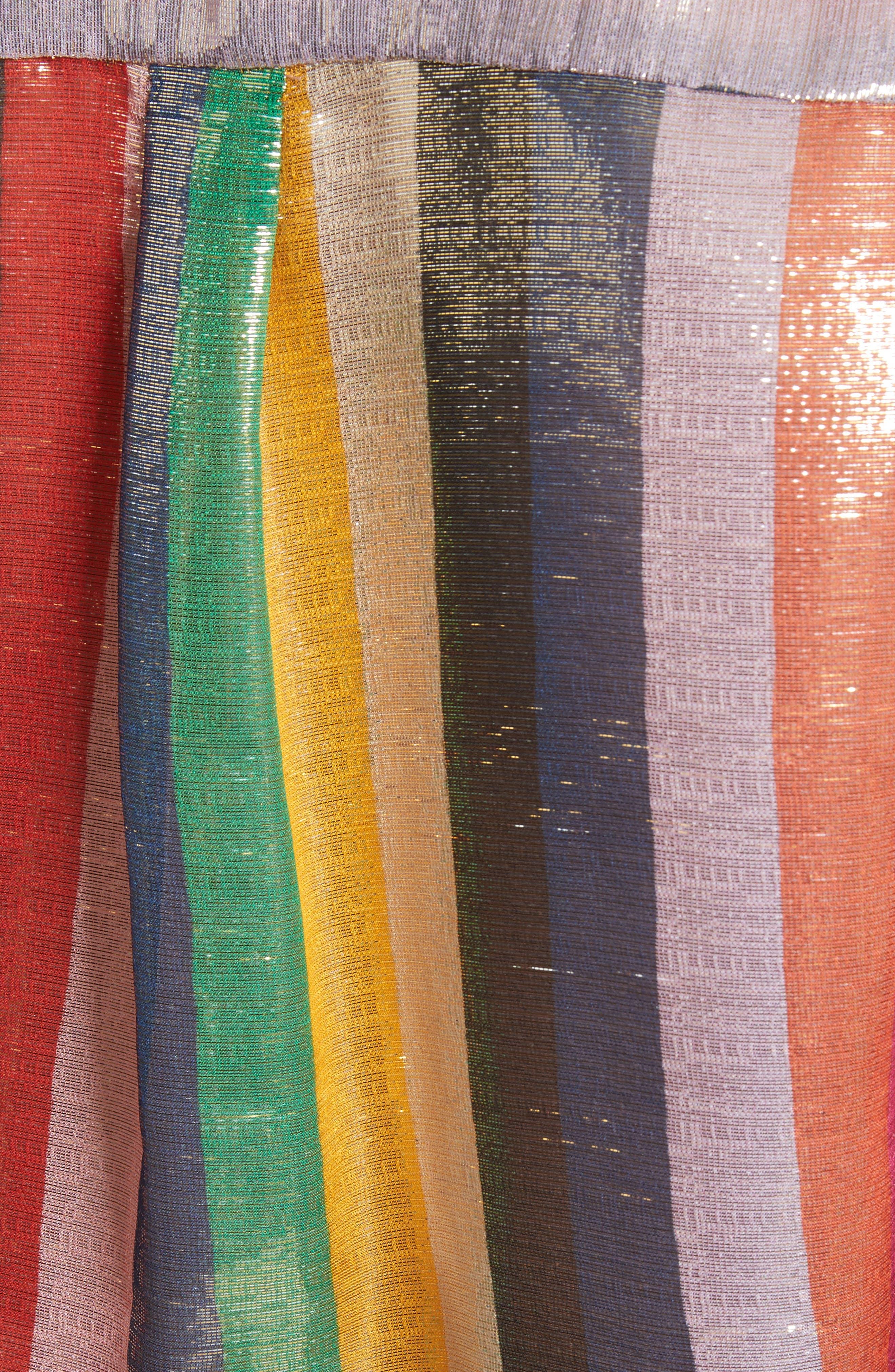 Metallic Stripe Shirt,                             Alternate thumbnail 5, color,