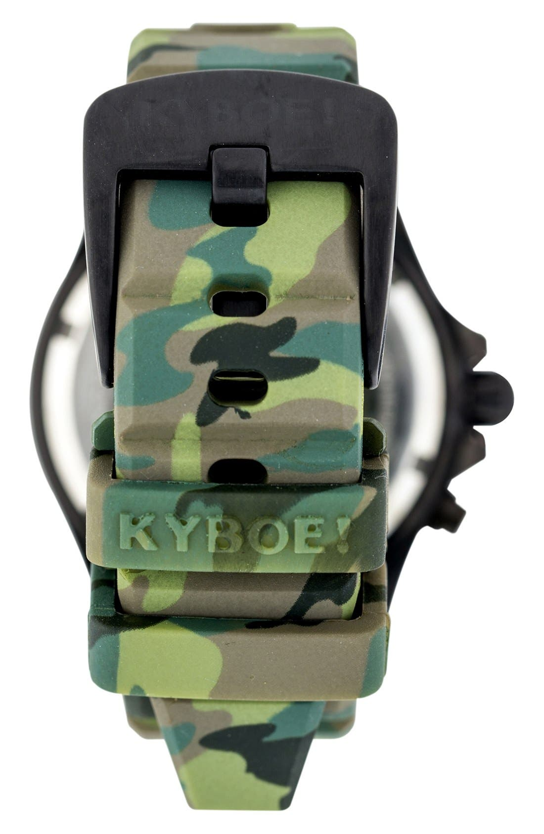 Camouflage Silicone Strap Watch, 40mm,                             Alternate thumbnail 2, color,                             301