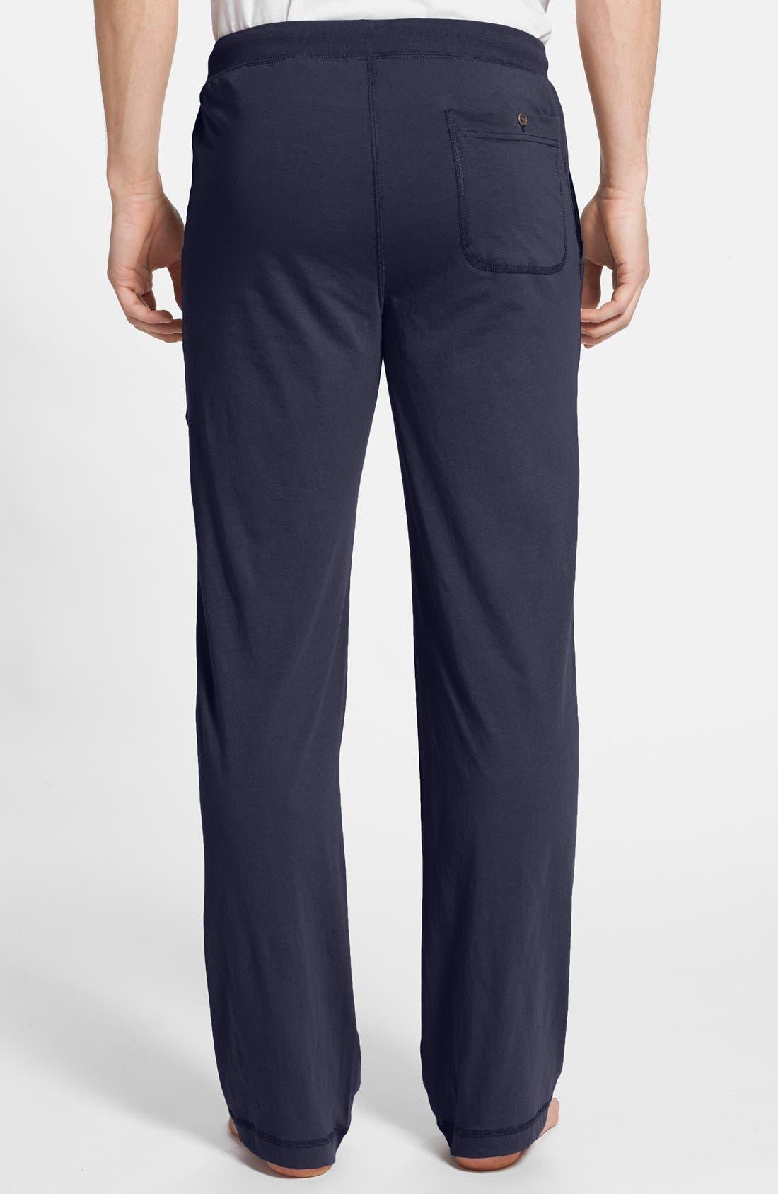 Peruvian Pima Lightweight Cotton Lounge Pants,                             Alternate thumbnail 2, color,                             NAVY
