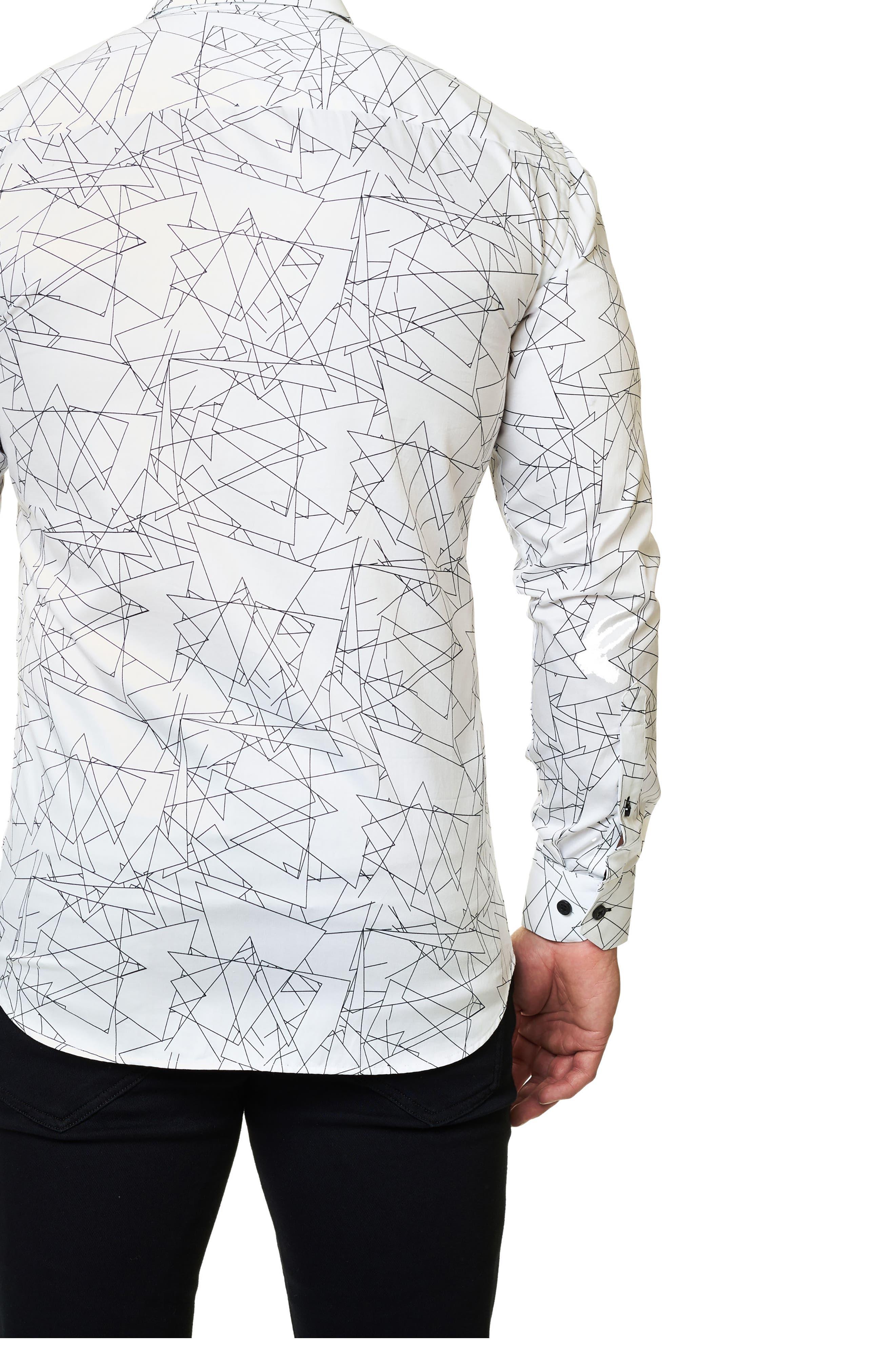 Trim Fit Geo Print Sport Shirt,                             Alternate thumbnail 2, color,                             114