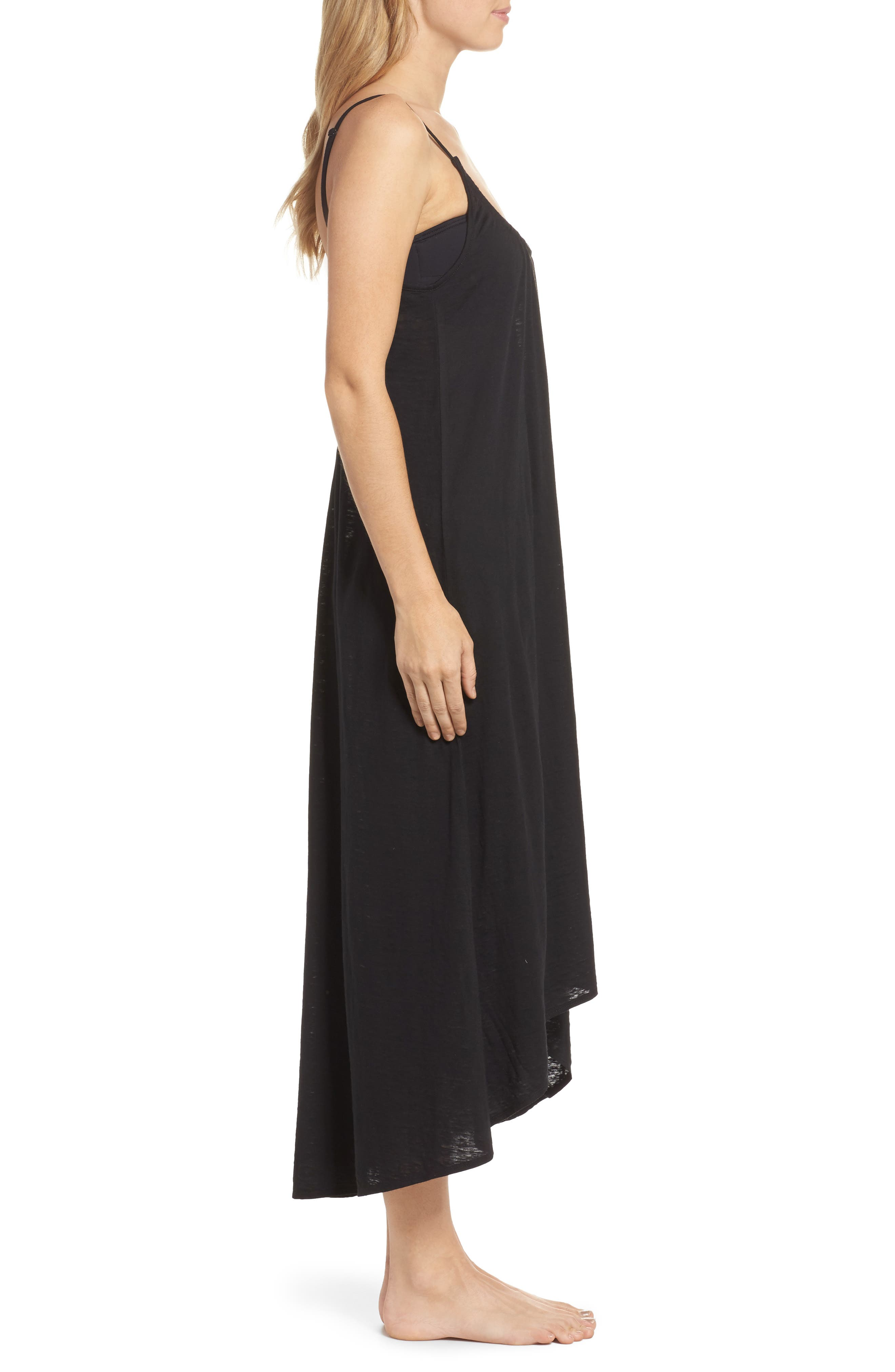 Maxi Cover-Up Dress,                             Alternate thumbnail 3, color,                             001
