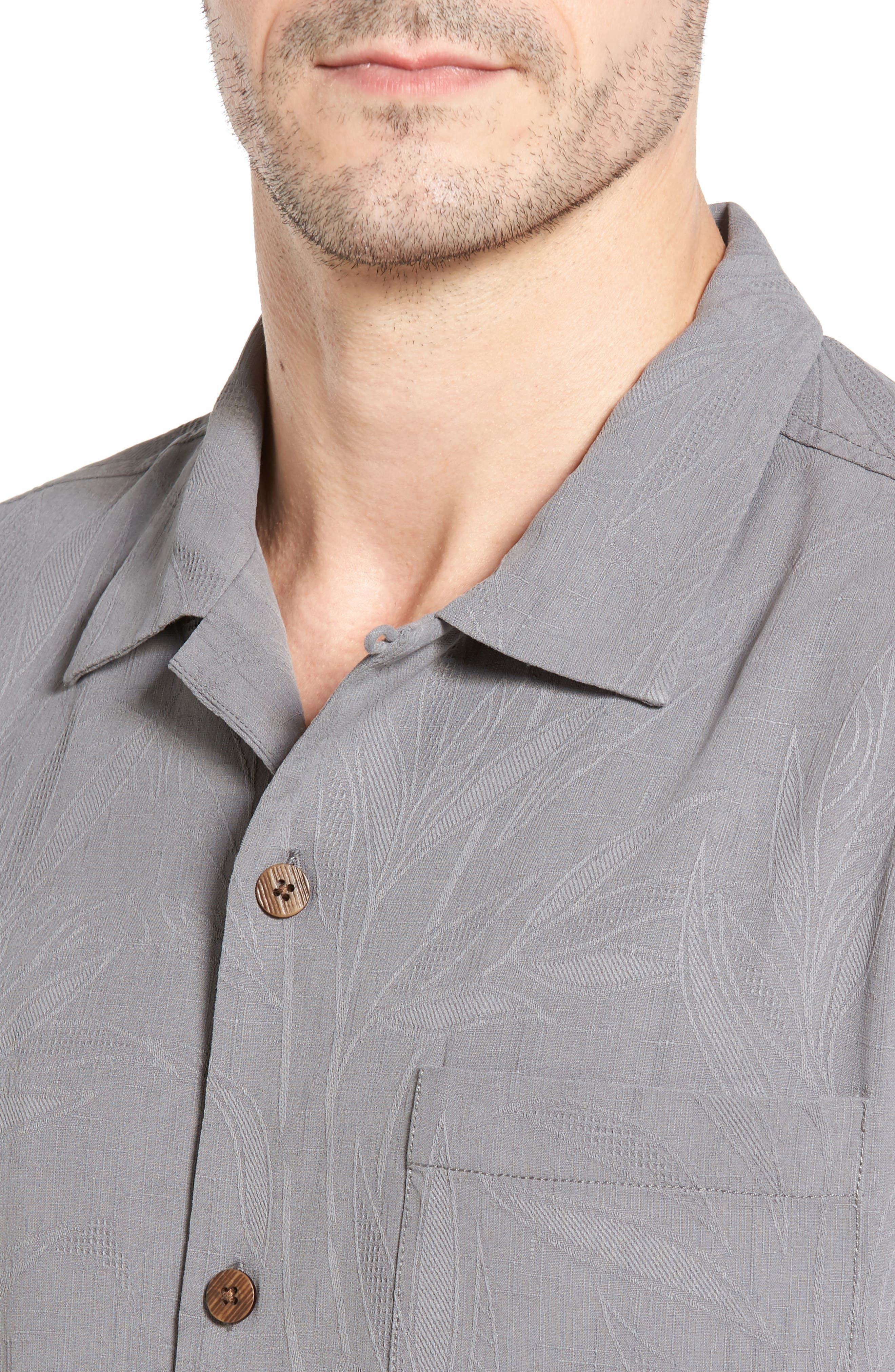 Islander Fronds Silk Camp Shirt,                             Alternate thumbnail 29, color,