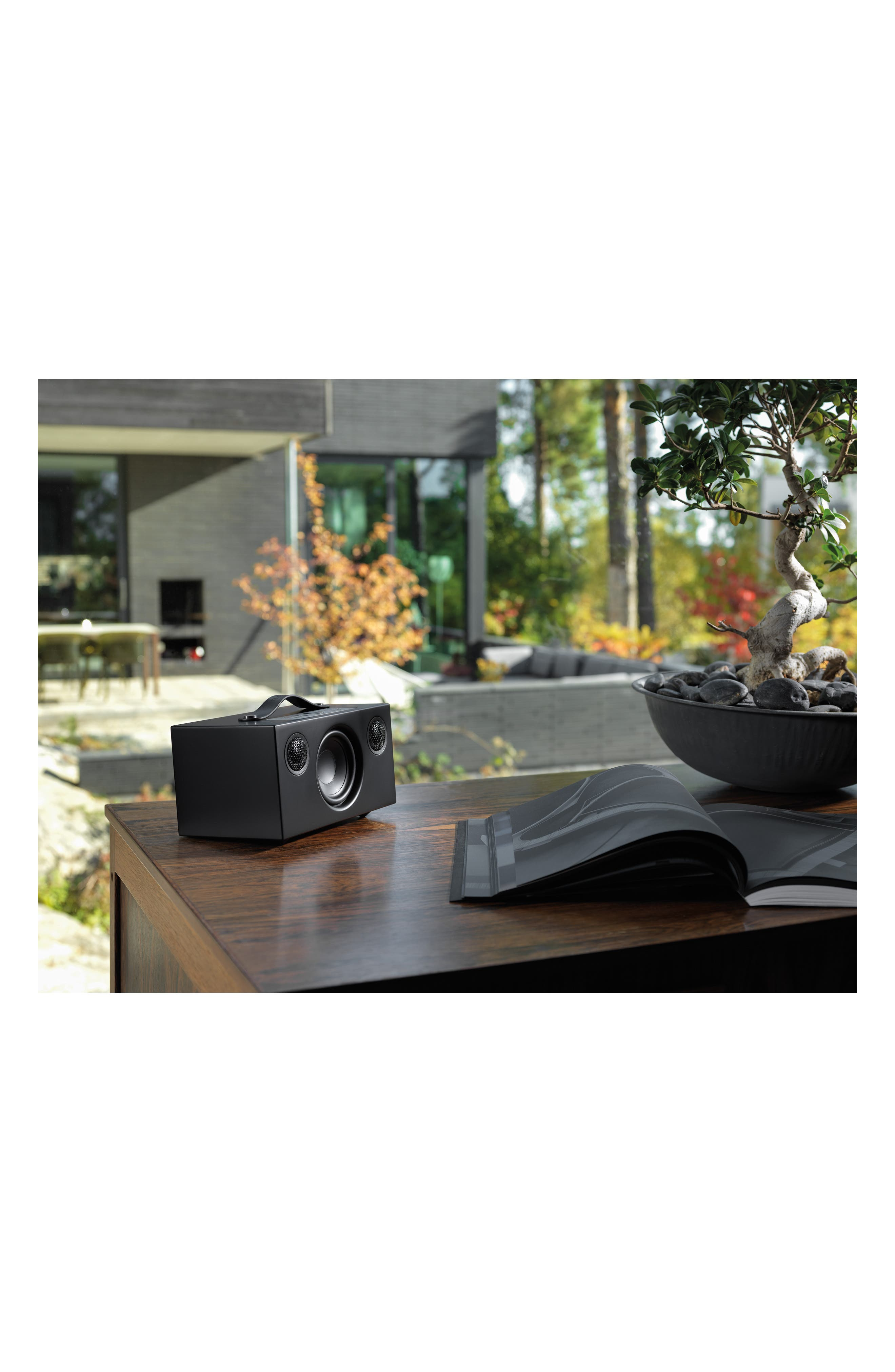 Addon C5 Wi-Fi Multi Room Bluetooth<sup>®</sup> Speaker,                             Alternate thumbnail 6, color,                             COAL BLACK
