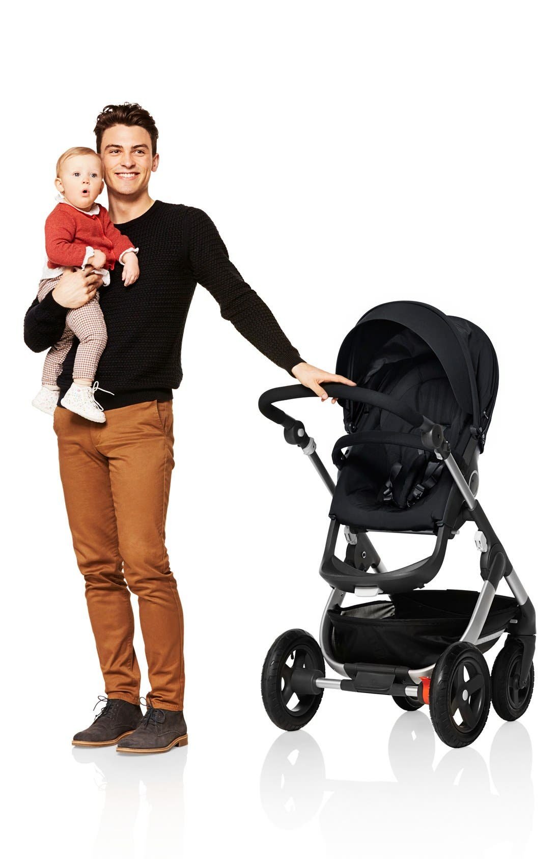 Trailz<sup>™</sup> All Terrain Stroller,                             Alternate thumbnail 6, color,                             BLACK MELANGE