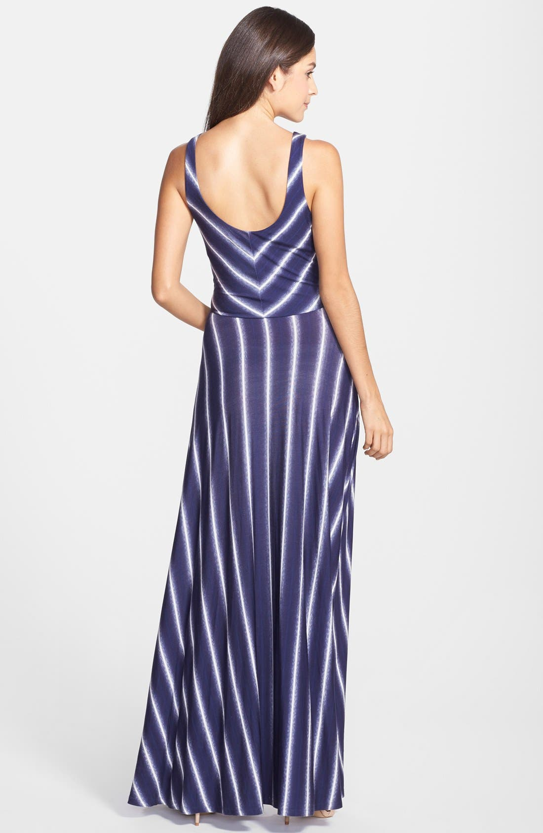 Stripe Scoop Neck Maxi Dress,                             Alternate thumbnail 2, color,                             429