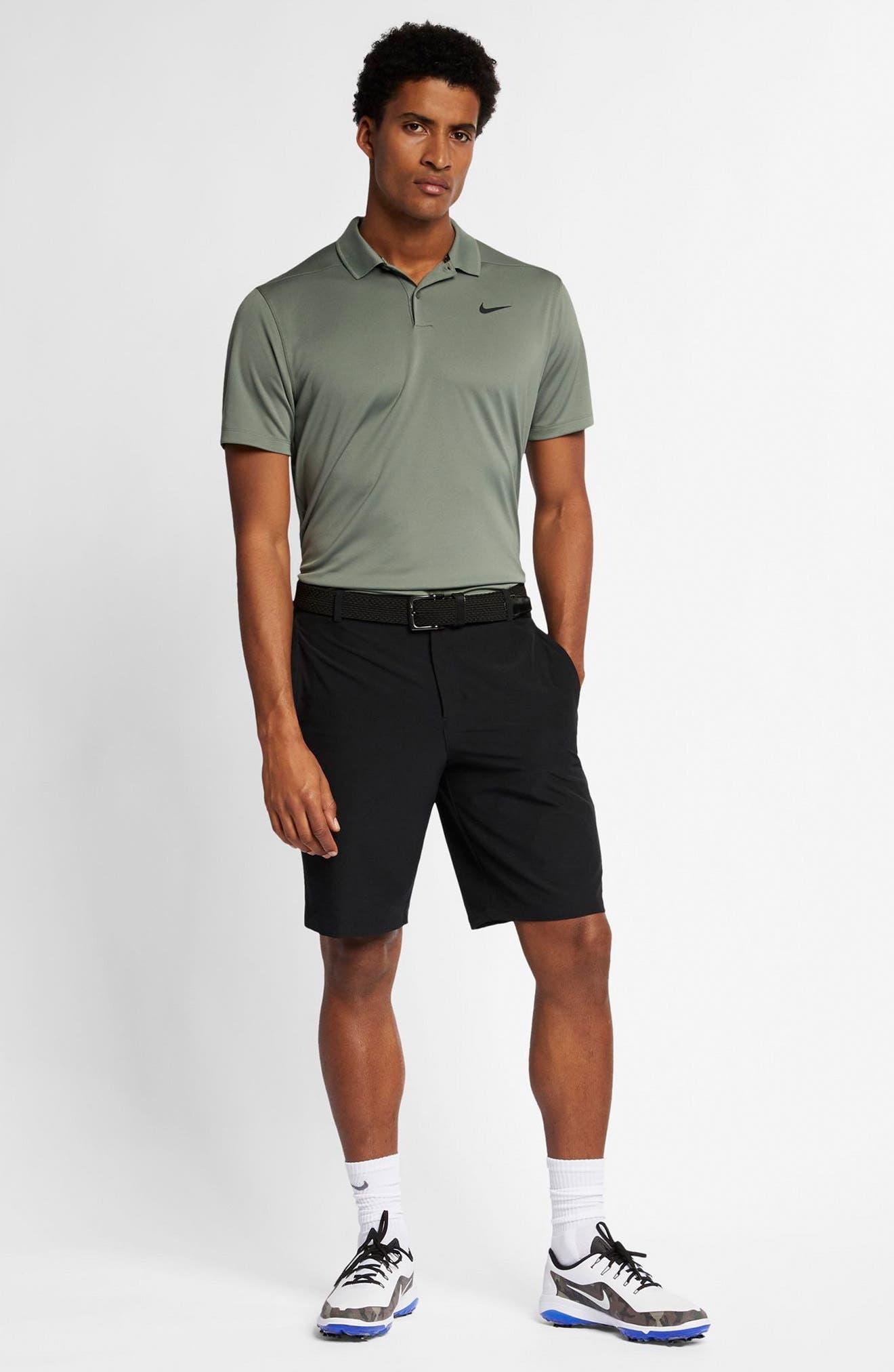 Flex Hybrid Standard Fit Golf Shorts,                             Alternate thumbnail 5, color,                             BLACK/ BLACK
