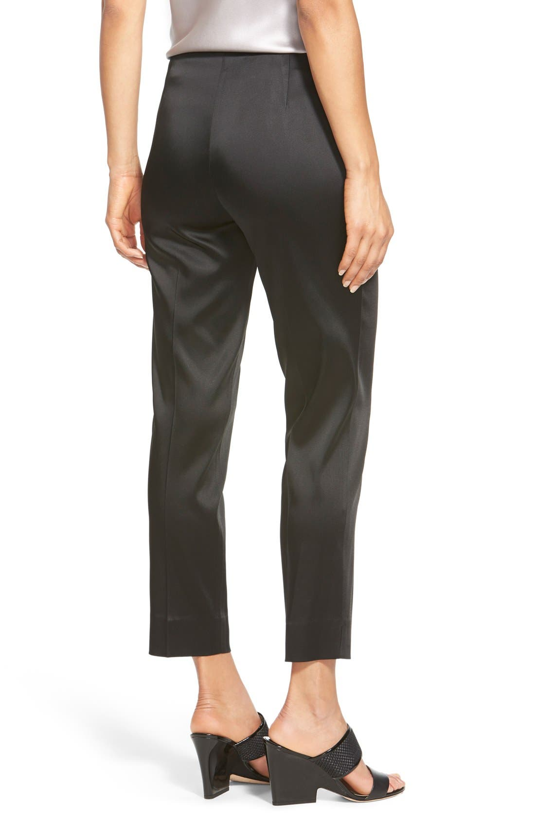'Stanton - Belle Satin' Pants,                             Alternate thumbnail 6, color,                             BLACK