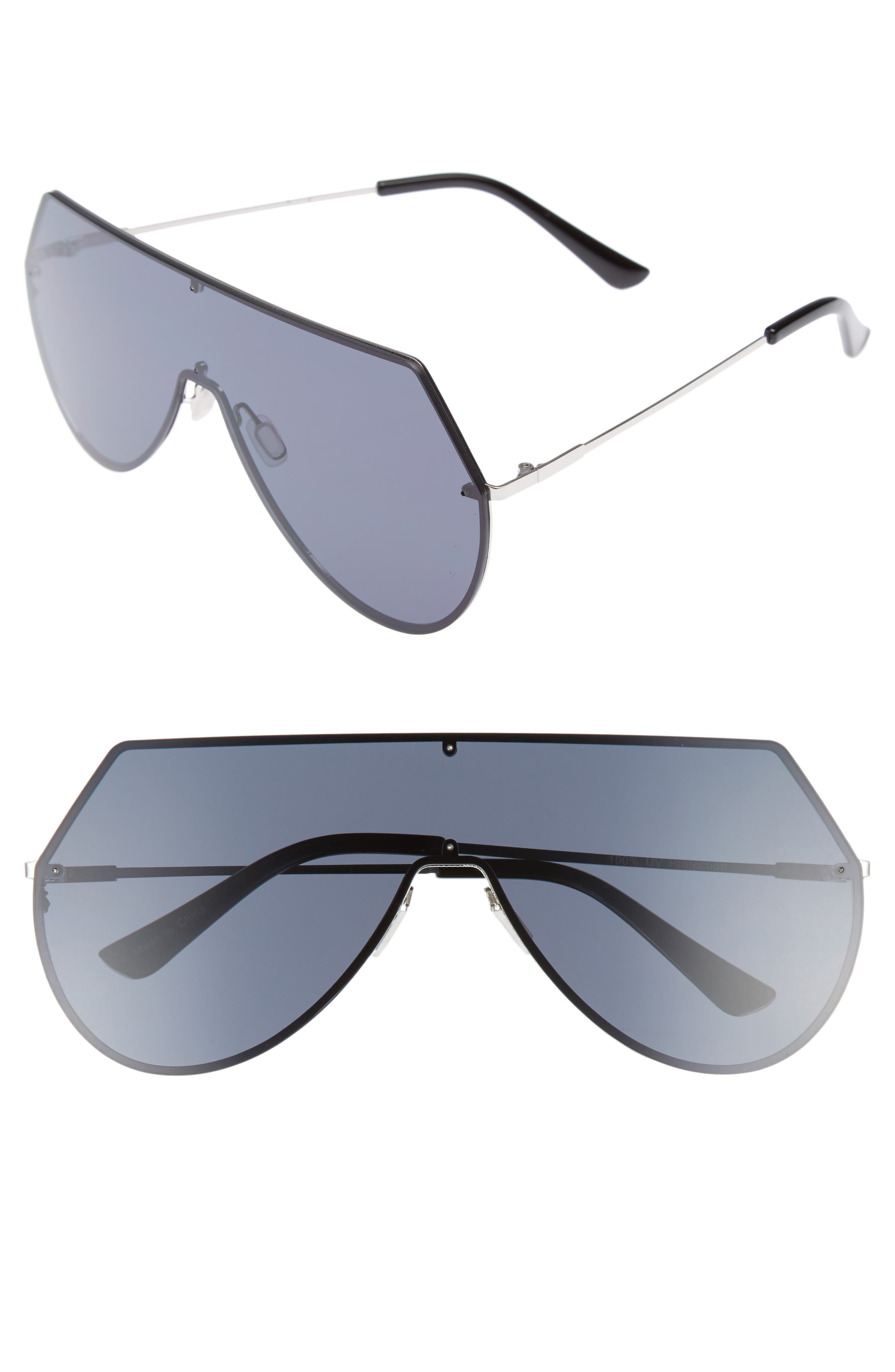 55mm Shield Sunglasses,                         Main,                         color, 001