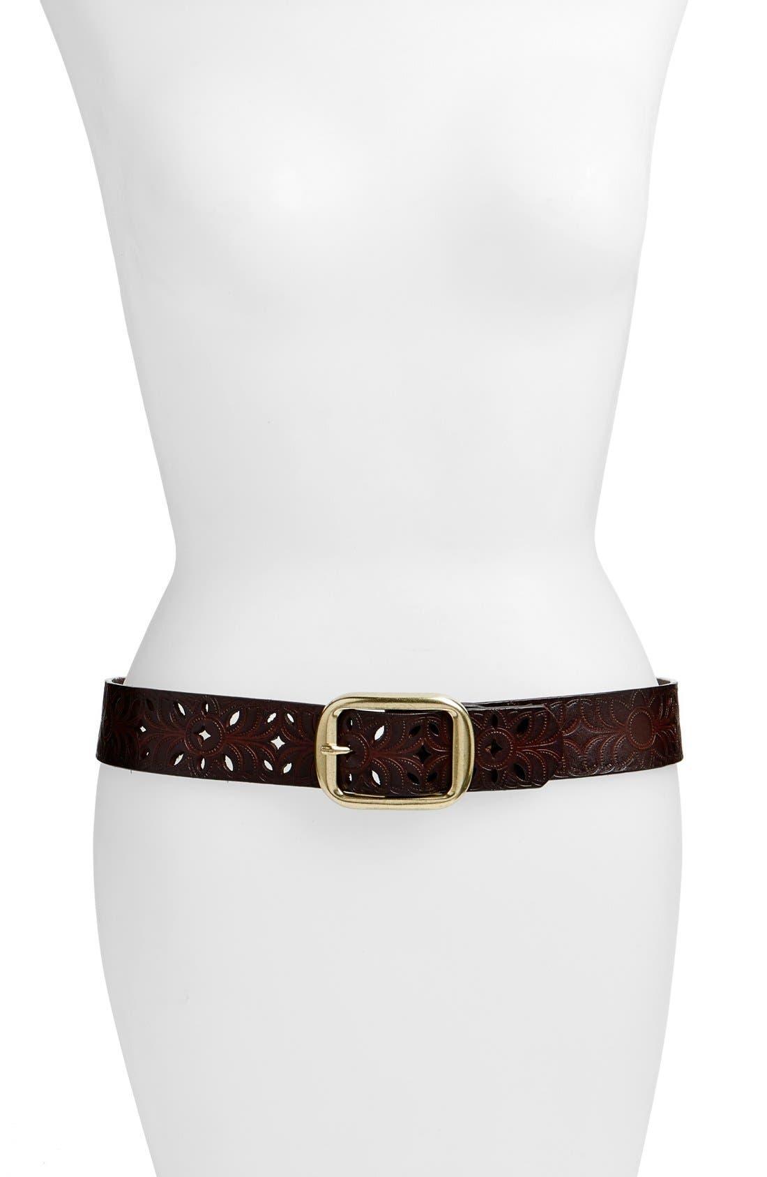'Cantina' Leather Hip Belt,                             Main thumbnail 1, color,                             CAPP
