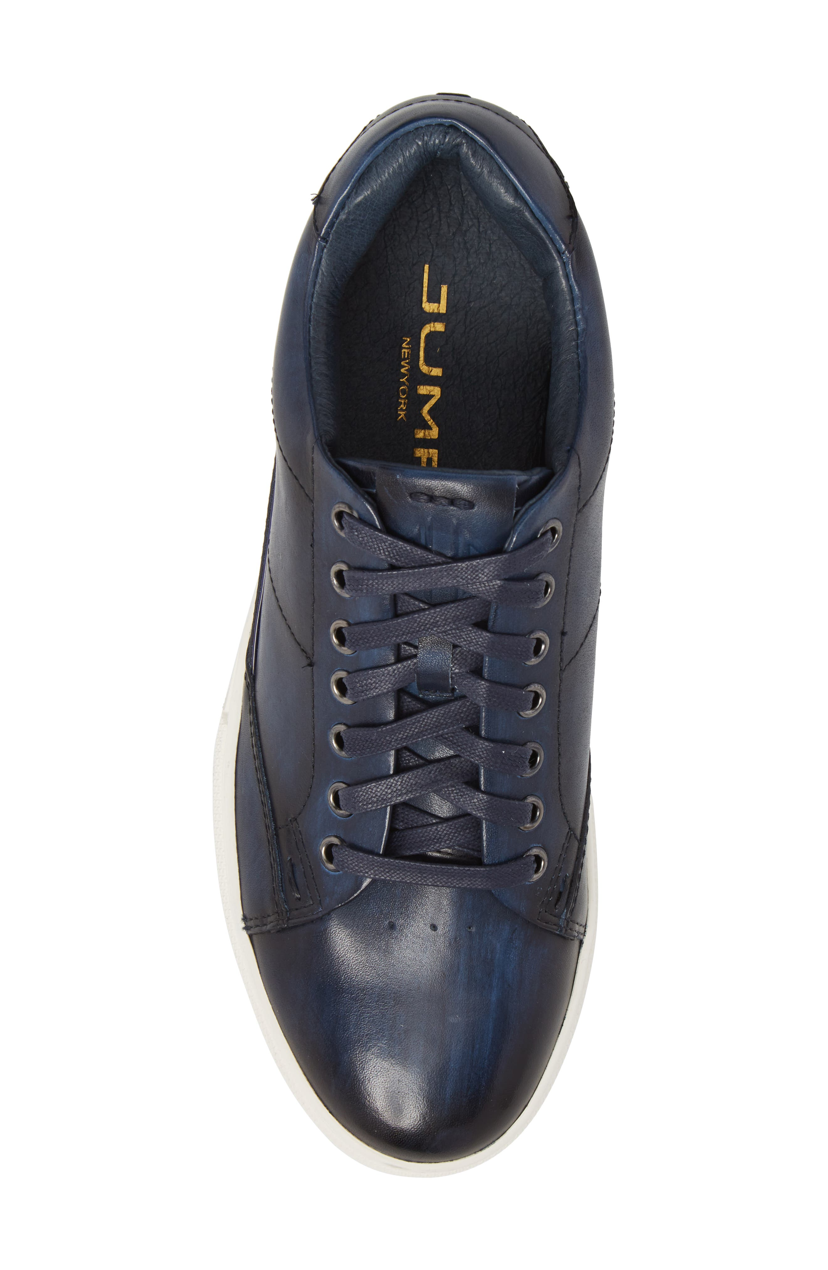 Sweeney Low Top Sneaker,                             Alternate thumbnail 5, color,                             NAVY LEATHER