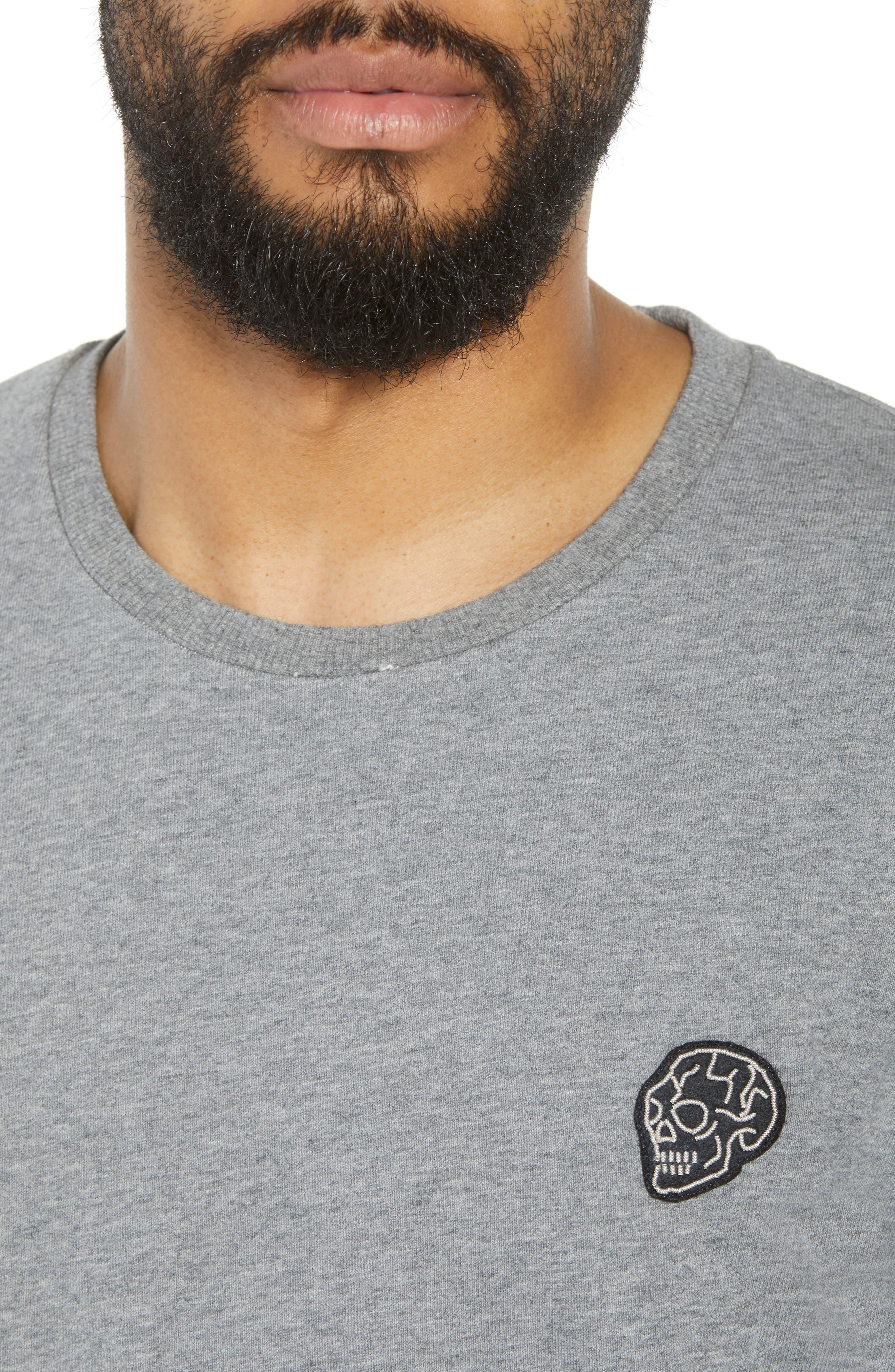 Classic Fit Short Sleeve Sweatshirt,                             Alternate thumbnail 4, color,                             020