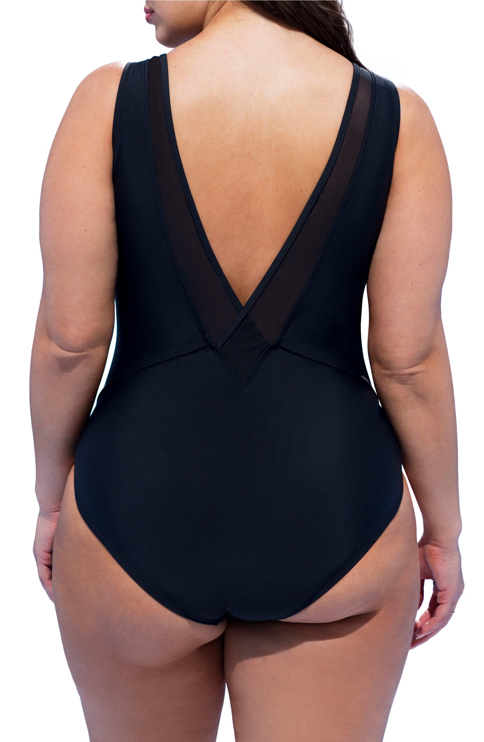 db1ca68910f Ashley Graham Presidenta One-Piece Swimsuit (Plus Size)