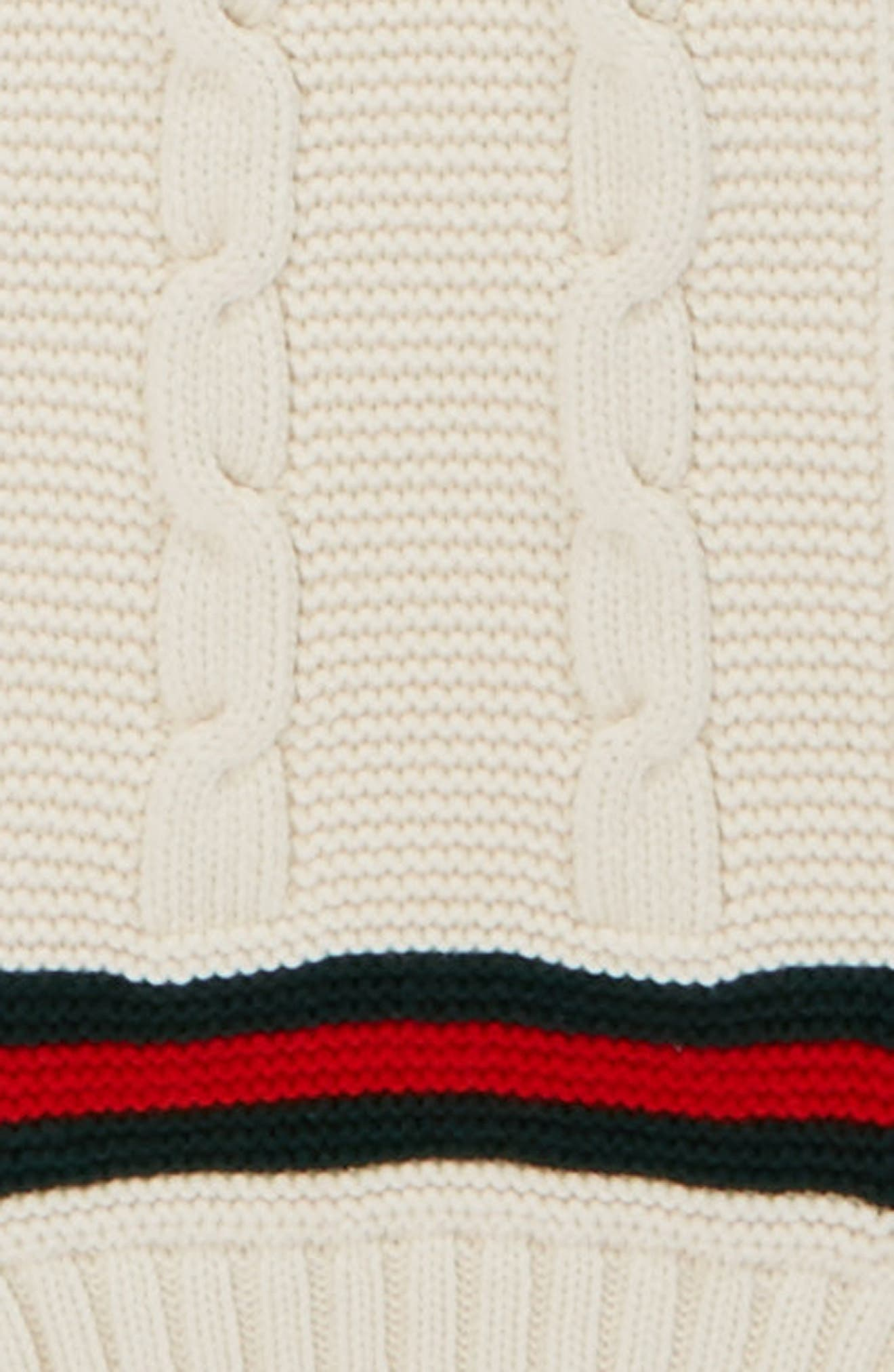 Omelis Cable Knit Scarf,                             Alternate thumbnail 4, color,                             100