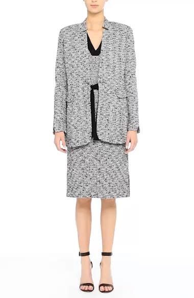 Alternate Video 8  - St. John Collection Micro Tweed Belted Dress