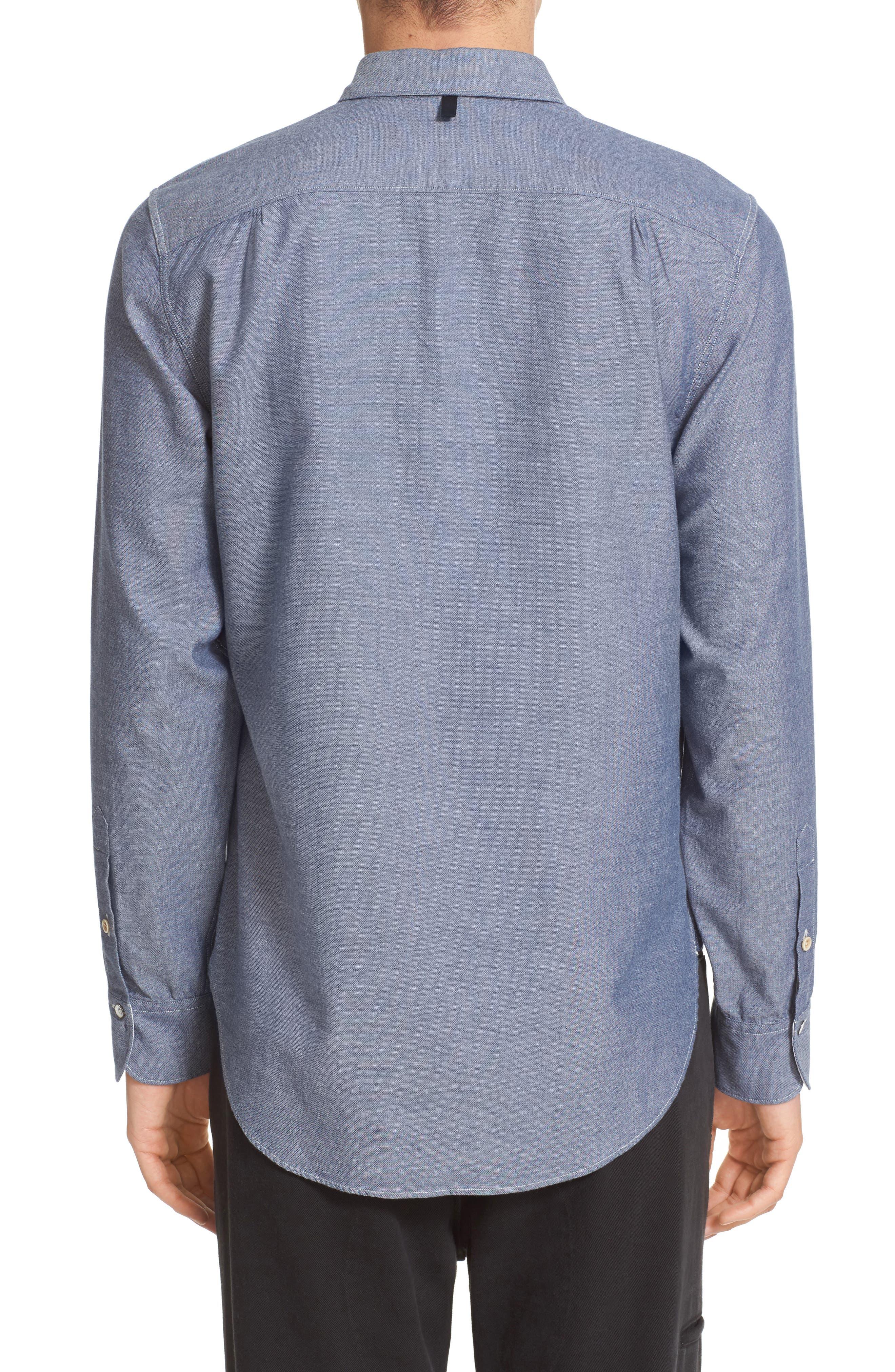 Beach Trim Fit Sport Shirt,                             Alternate thumbnail 3, color,                             465