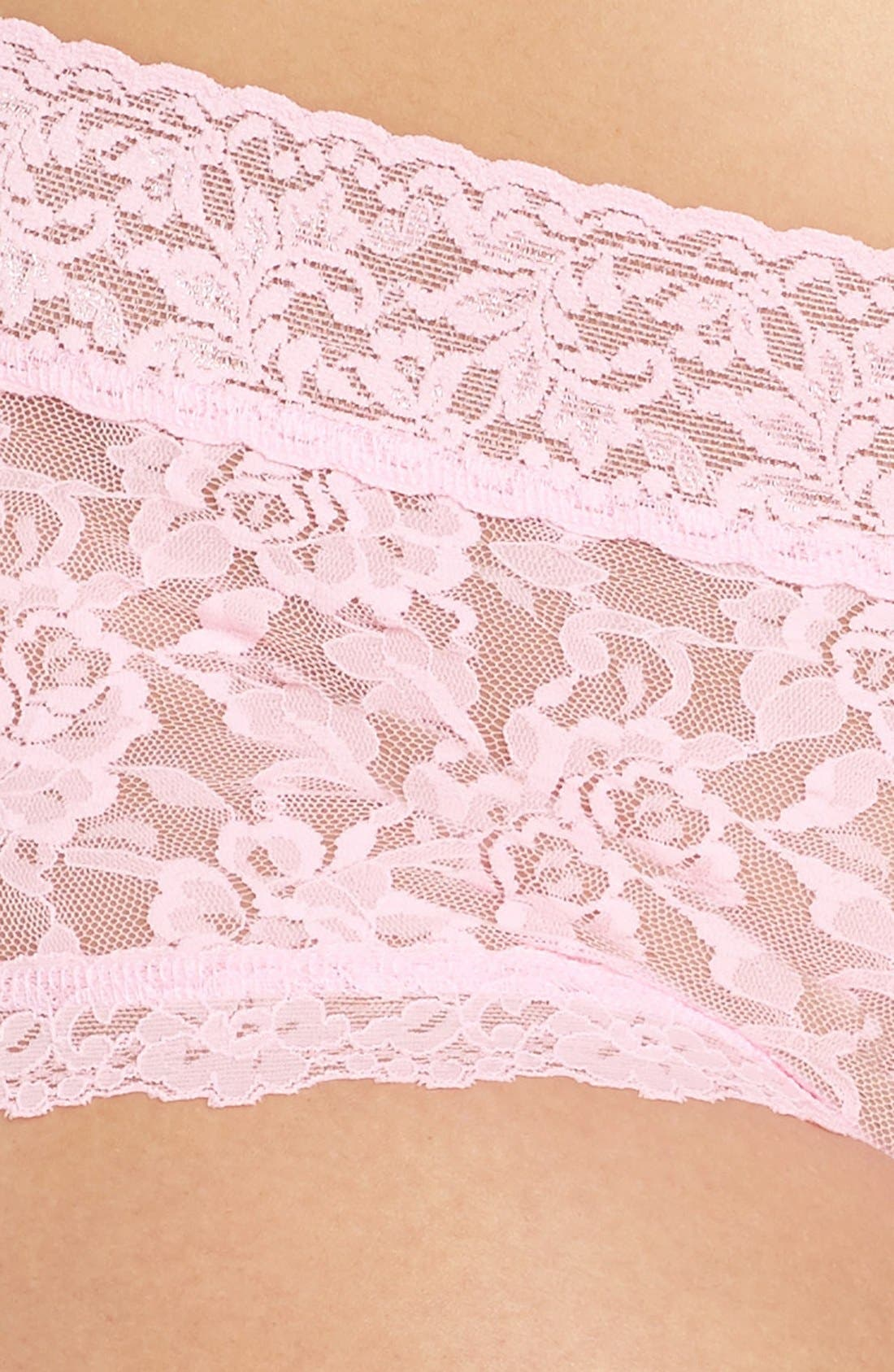 Stretch Lace Boyshorts,                             Alternate thumbnail 133, color,