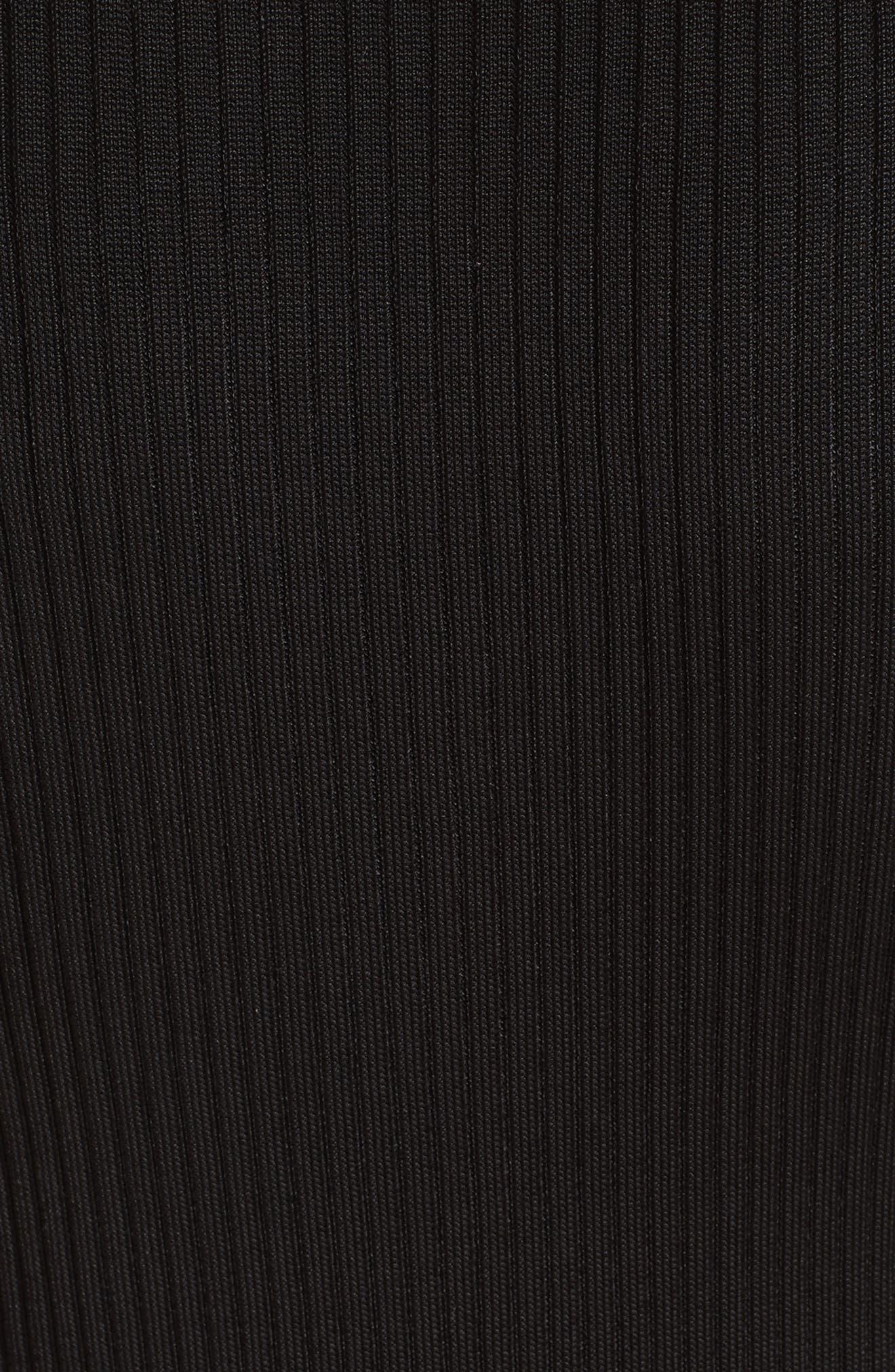 Plated Rib Knit Shell,                             Alternate thumbnail 5, color,                             CAVIAR