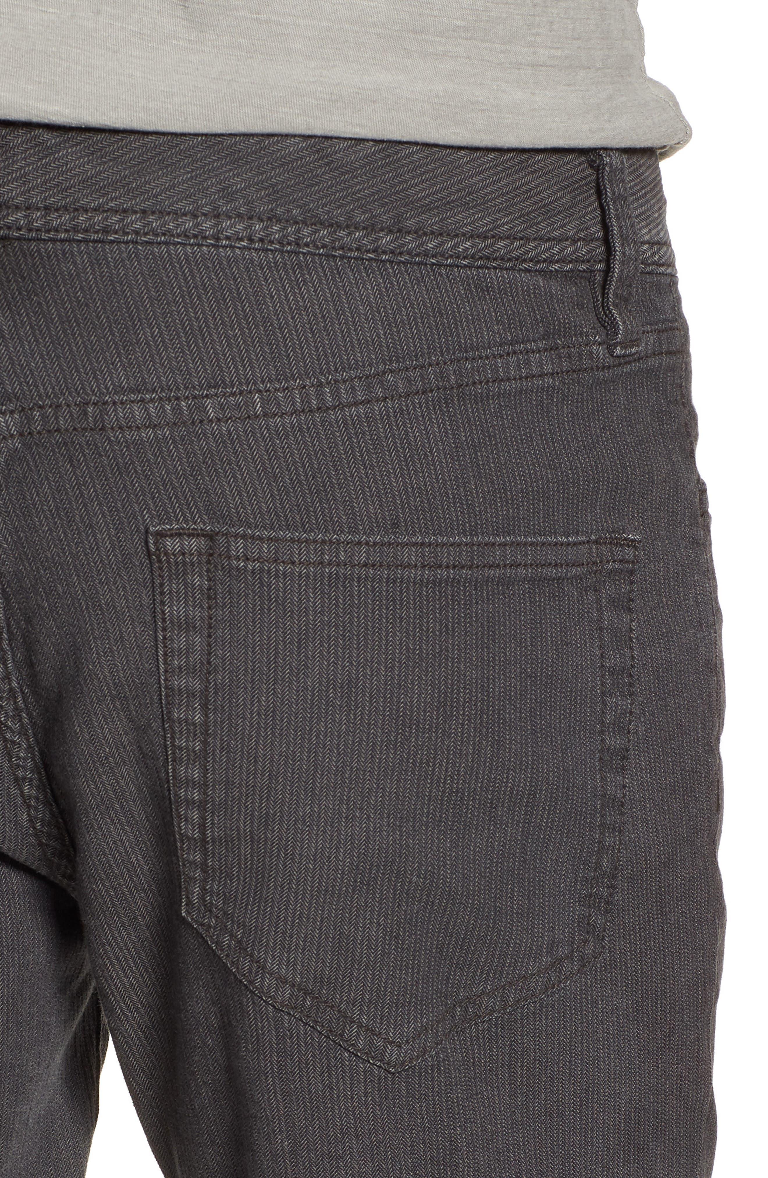 Slim Fit Stretch Herringbone Pants,                             Alternate thumbnail 5, color,